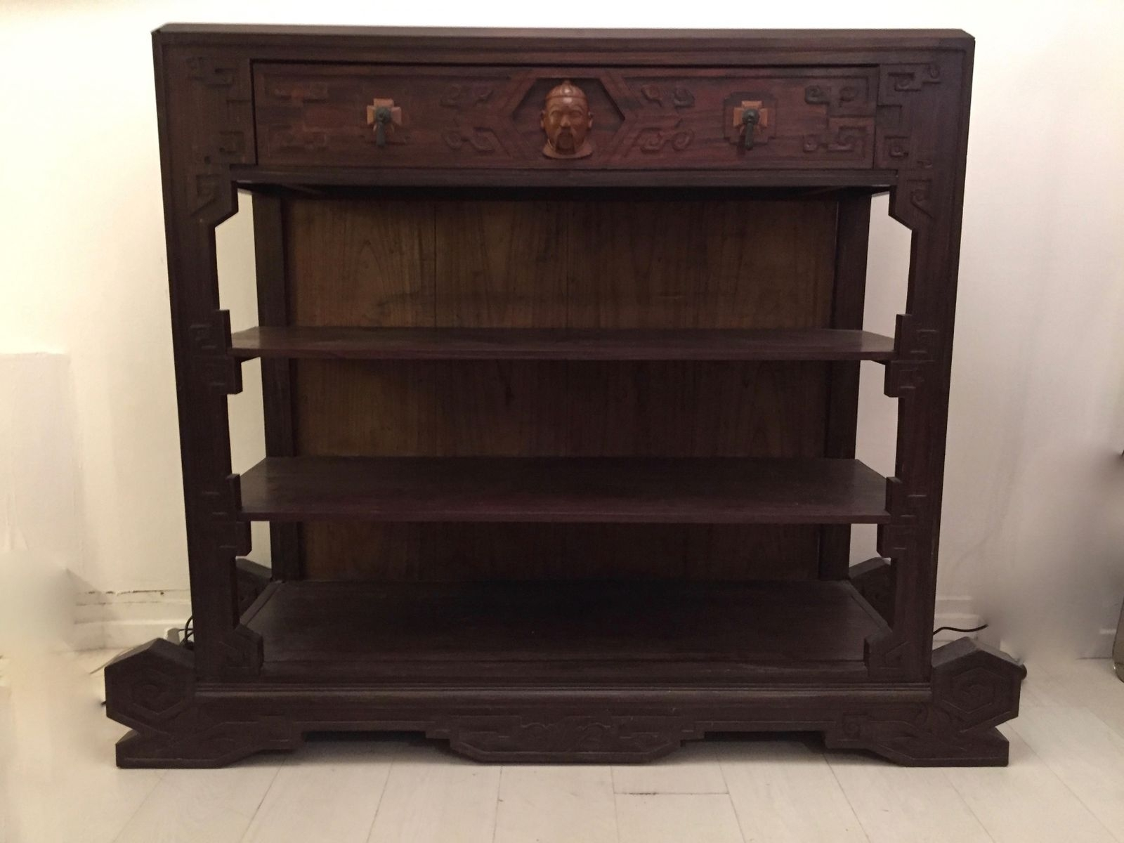 Dutch Colonial Ironwood Shelving Unit, 1920S For Sale At Pamono pertaining to Ironwood 4-Door Sideboards (Image 7 of 30)