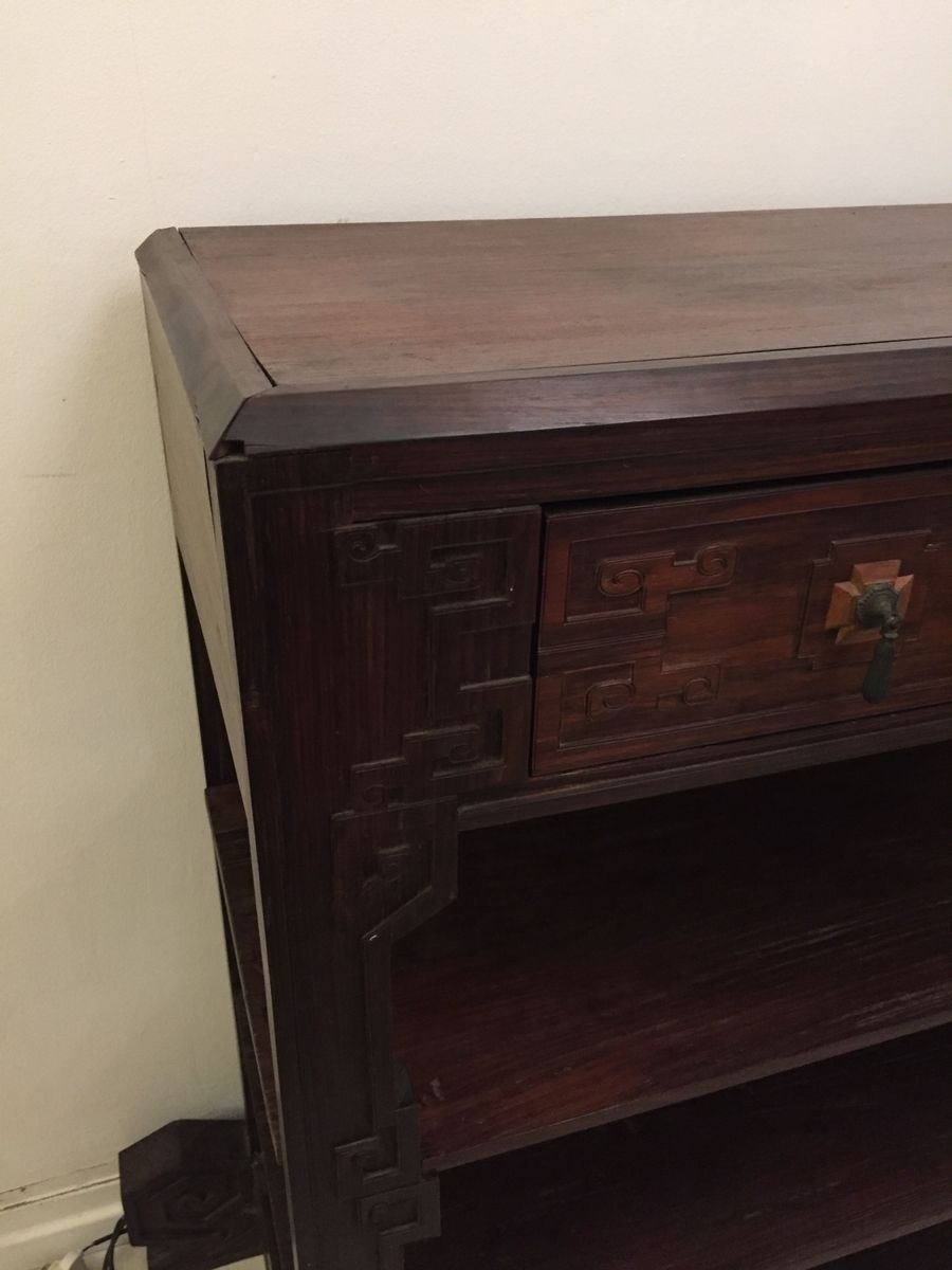 Dutch Colonial Ironwood Shelving Unit, 1920S For Sale At Pamono pertaining to Ironwood 4-Door Sideboards (Image 6 of 30)