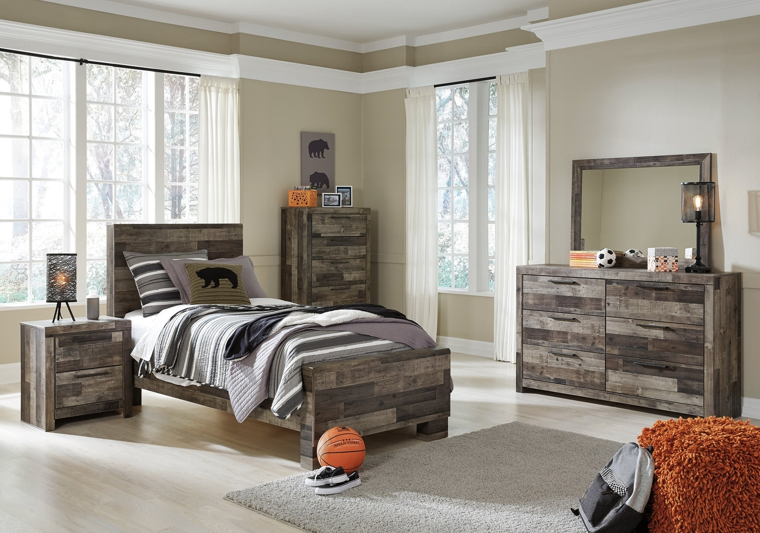 Dylan Youth Bedroom Suite | Hom Furniture with Magnolia Home Dylan Sideboards By Joanna Gaines (Image 20 of 30)
