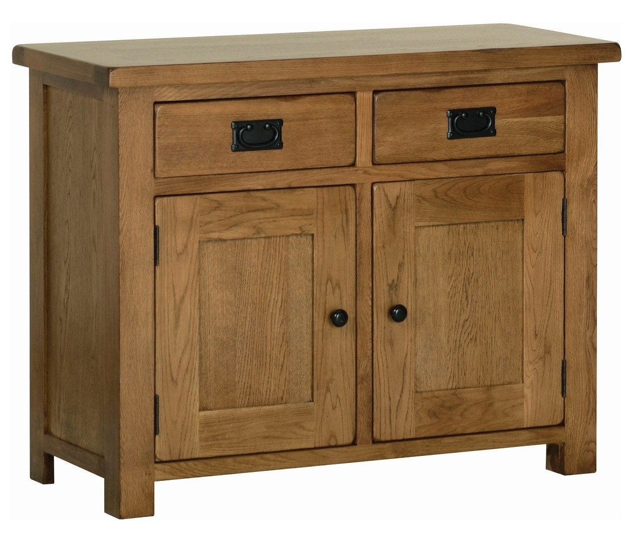 Edinburgh Rustic Oak 2 Door Sideboard | Oak Furniture Uk Regarding Natural Oak Wood 2 Door Sideboards (Photo 22 of 30)