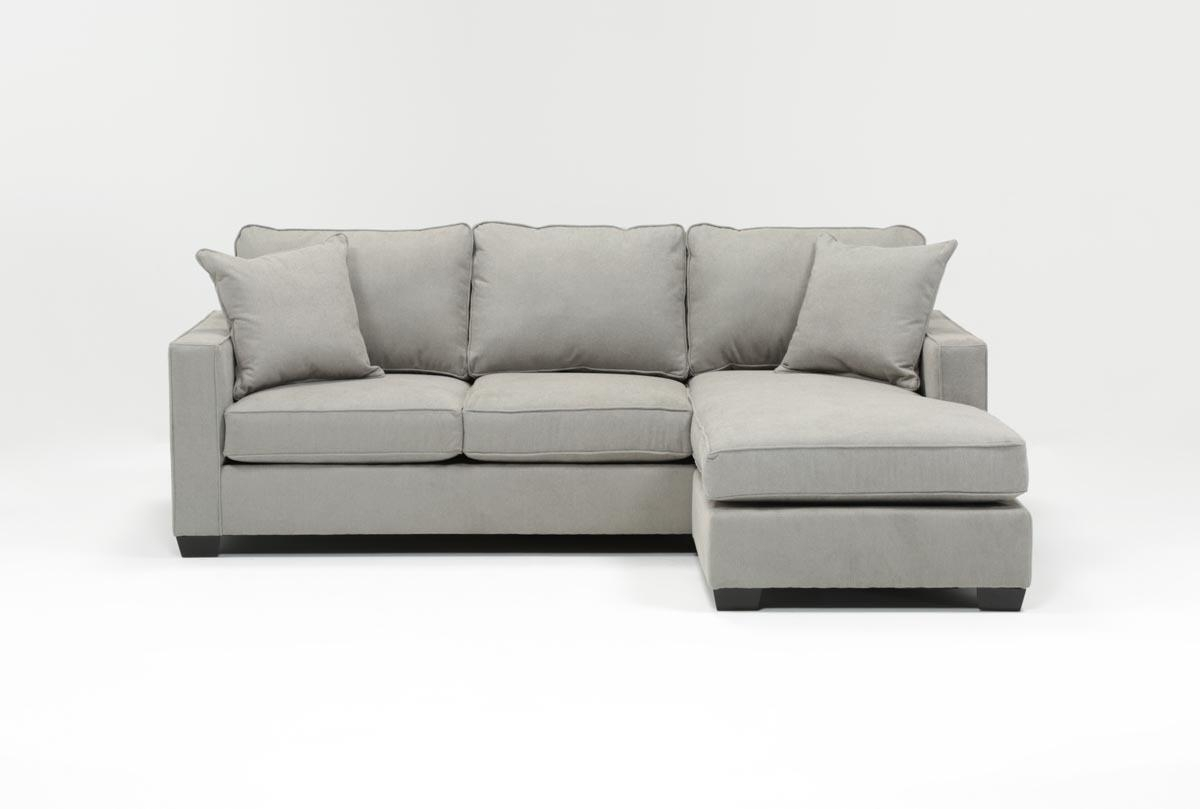 Egan Ii Cement Sofa W/reversible Chaise | Living Spaces With Regard To Mcculla Sofa Sectionals With Reversible Chaise (View 9 of 30)