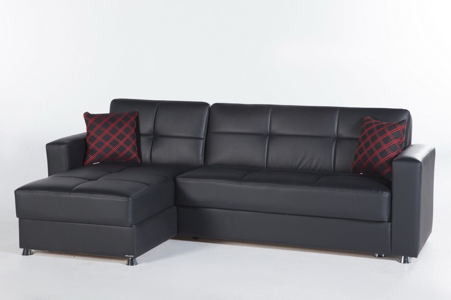 Elegant Sectional Sofa In Santa Glory Blackistikbal | Sectional Regarding Mcculla Sofa Sectionals With Reversible Chaise (View 13 of 30)