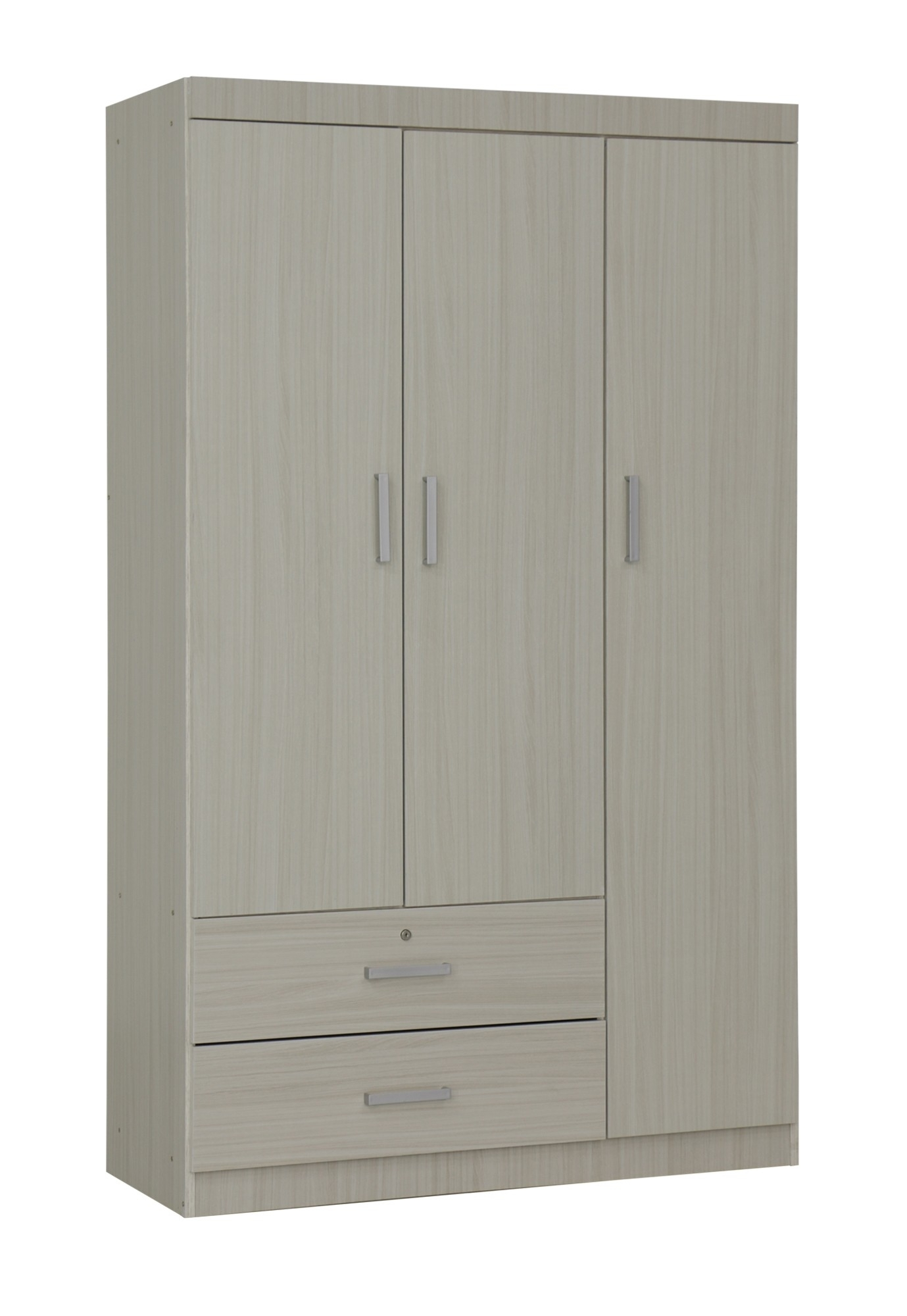Elifel 3 Door Wardrobe In White Wash | Furniture & Home Décor | Fortytwo For White Wash 3 Door 3 Drawer Sideboards (Photo 18 of 30)