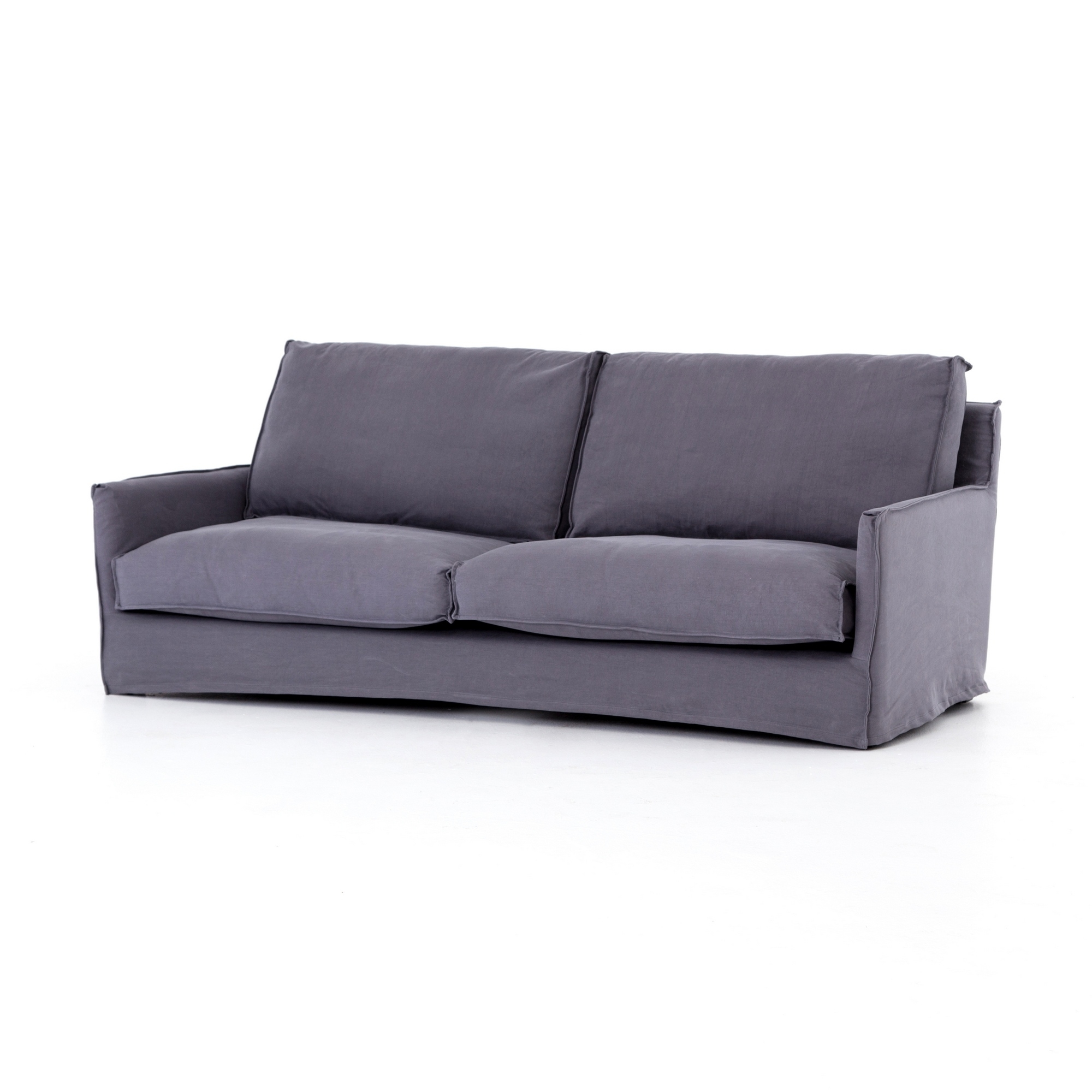 "Elijah 87"" Sofa-Stonewash Fog (Cird-267-021)Four Hands with regard to Lucy Dark Grey 2 Piece Sleeper Sectionals With Laf Chaise (Image 8 of 30)"