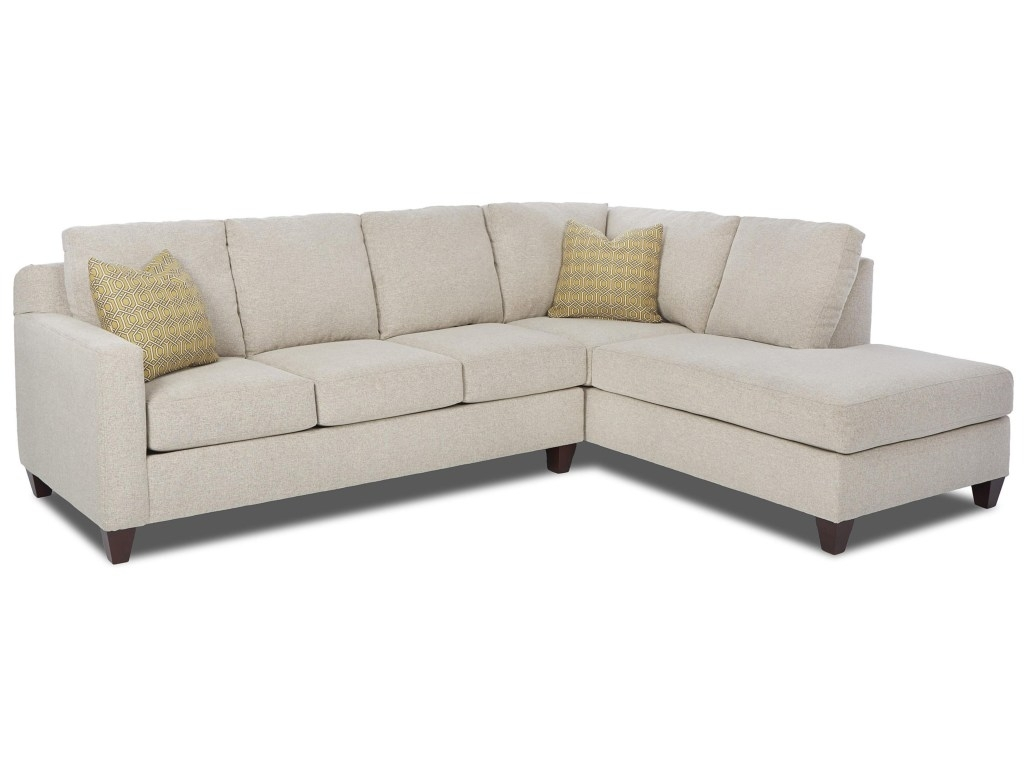 Elliston Place Bosco Contemporary Piece Sectional With Right Arm within Delano 2 Piece Sectionals With Laf Oversized Chaise (Image 16 of 30)