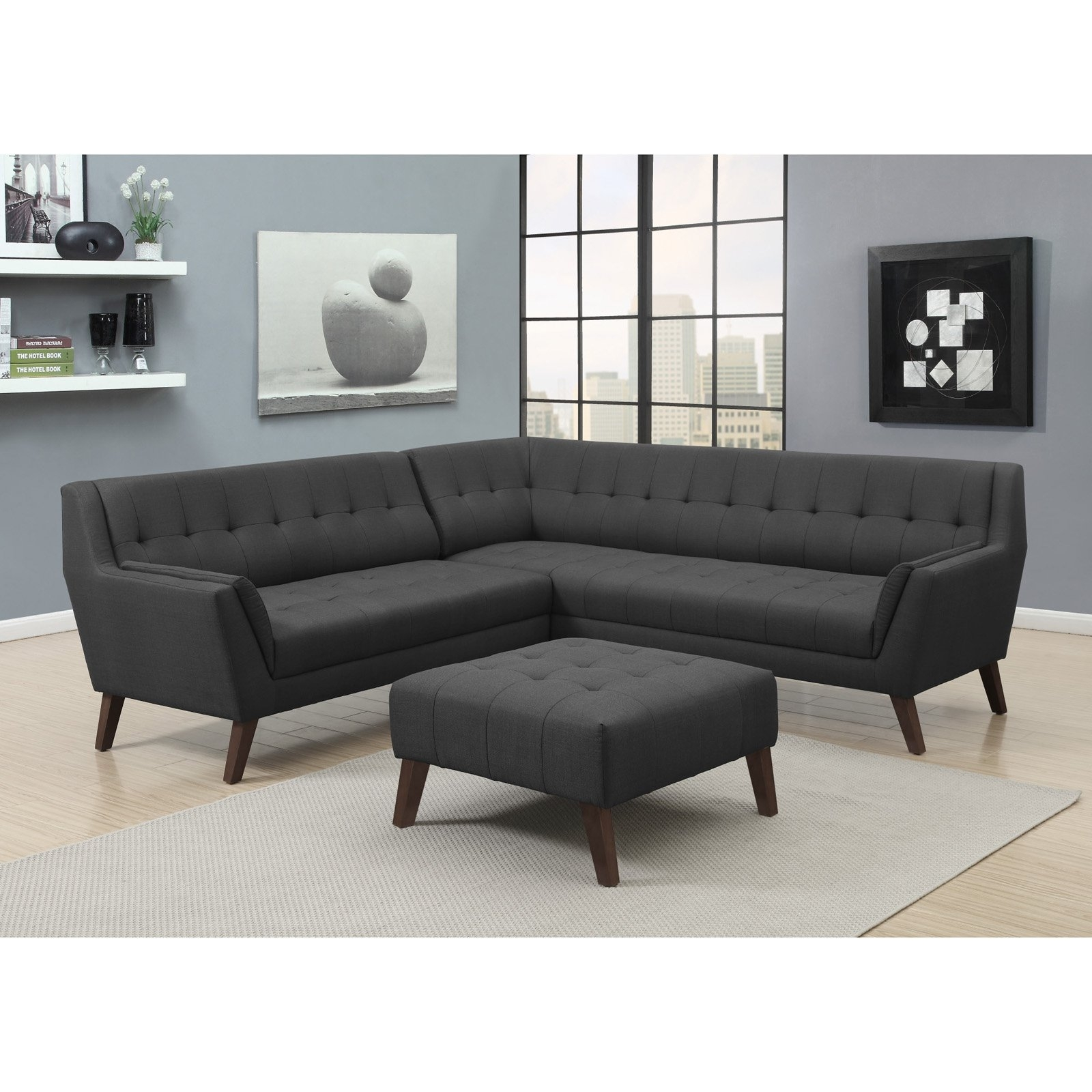 Emerald Home Binetti 2 Piece Sectional | Hayneedle for Norfolk Grey 6 Piece Sectionals (Image 12 of 30)