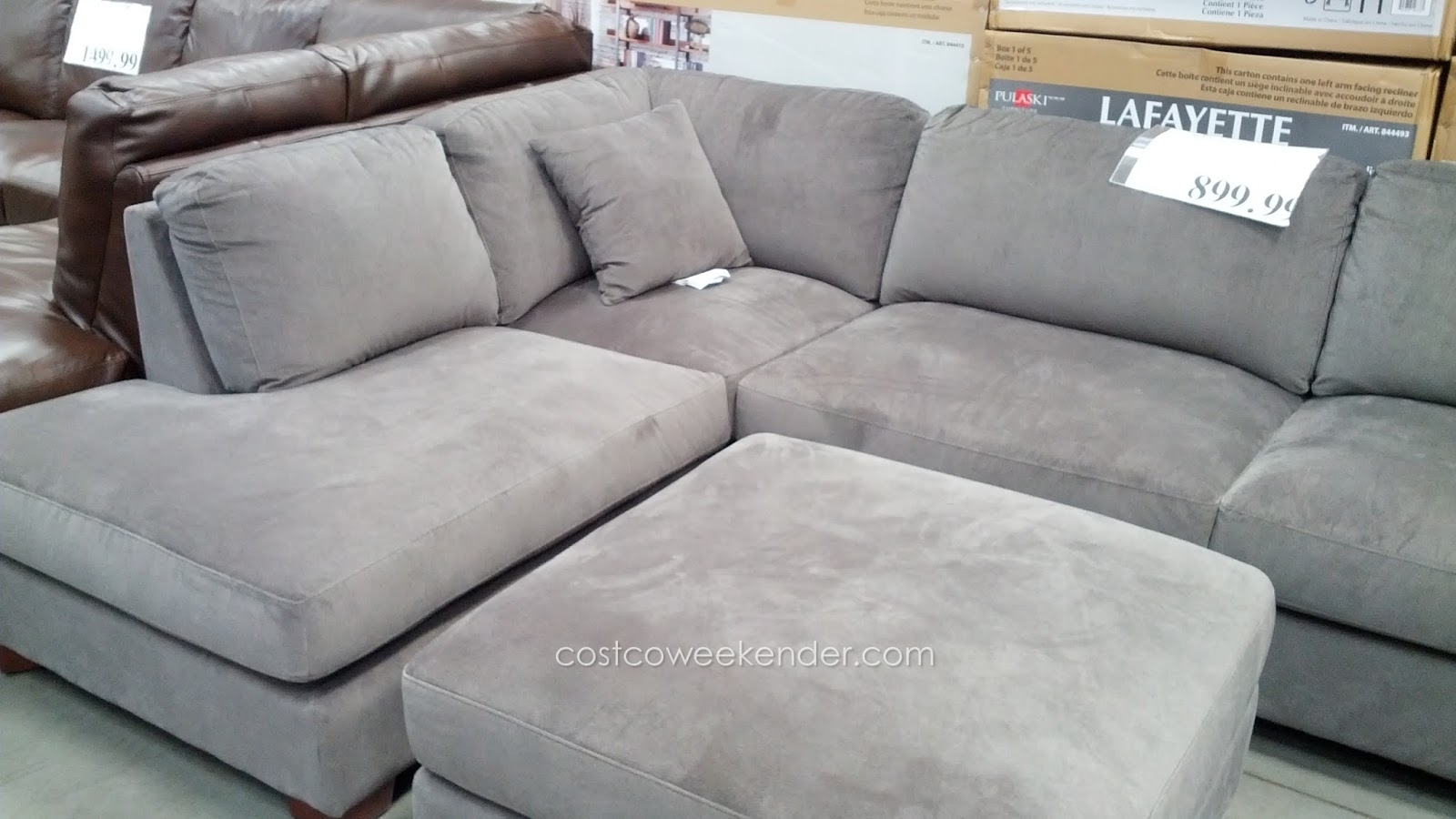 Emerald Home Furnishings Bianca 3-Piece Sectional Set | Costco Weekender regarding Cohen Down 2 Piece Sectionals (Image 7 of 30)