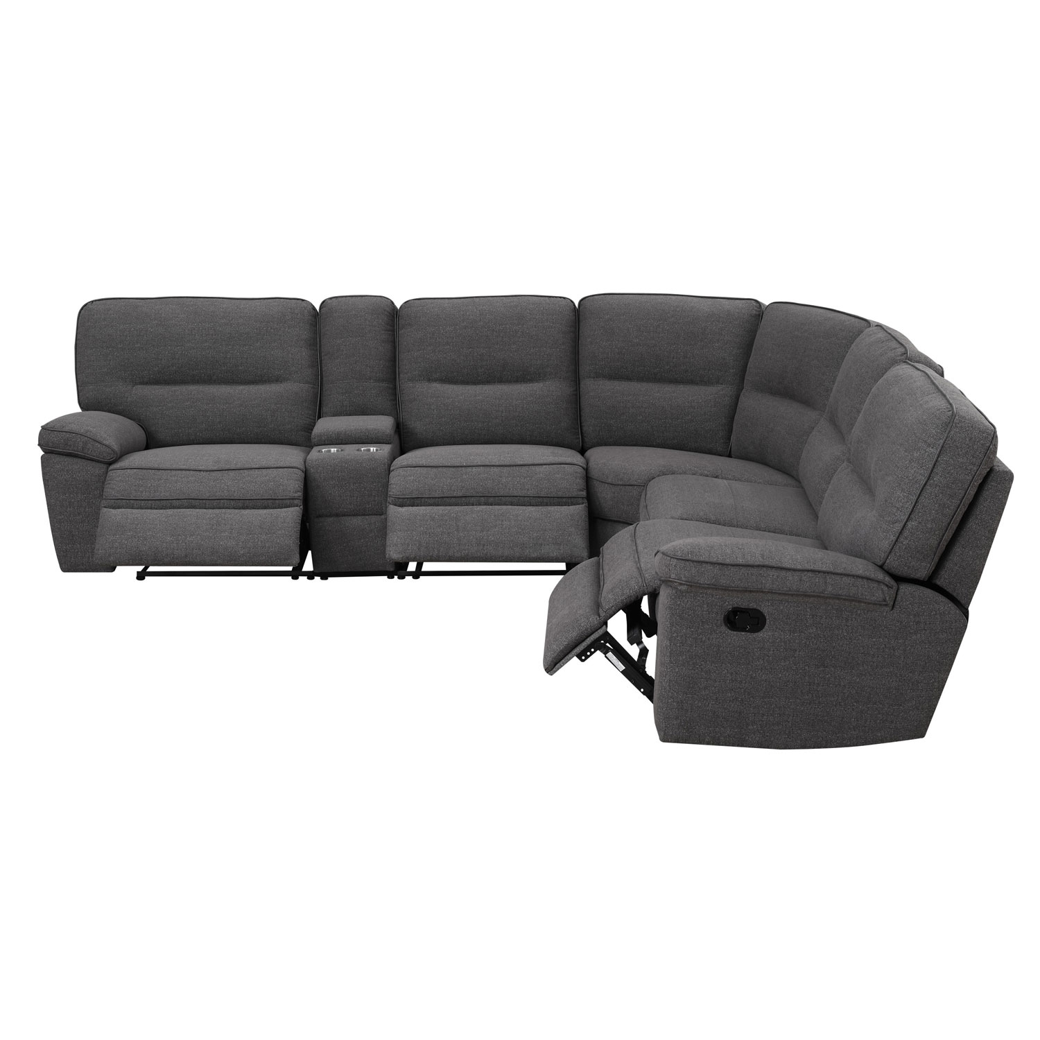 Emerald Home Furnishings Emerald Home Alberta 6 Piece Sectional For Norfolk Chocolate 6 Piece Sectionals (Gallery 11 of 30)
