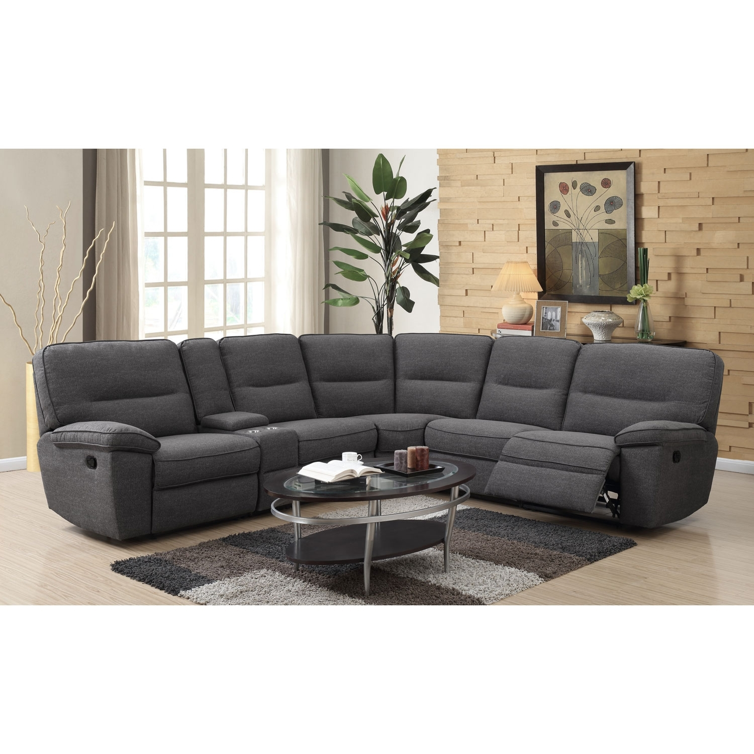 Emerald Home Furnishings Emerald Home Alberta 6 Piece Sectional In Norfolk Chocolate 6 Piece Sectionals (Photo 4 of 30)