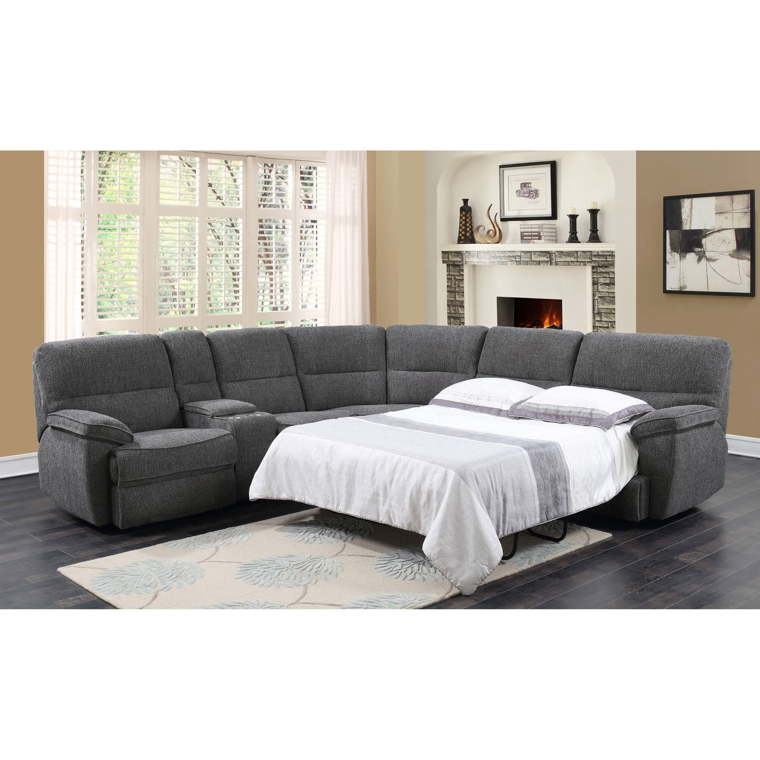Emerald Home Furnishings Emerald Home Aurora 3 Piece Sleeper intended for Aurora 2 Piece Sectionals (Image 17 of 30)