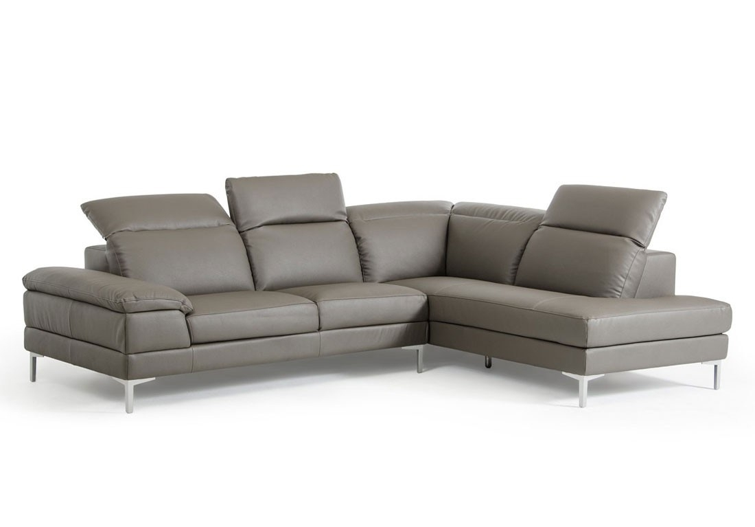 Endearing Kylah Grey Lear Sectional Kylah Grey Lear Sectional Intended For Tenny Dark Grey 2 Piece Left Facing Chaise Sectionals With 2 Headrest (Gallery 12 of 30)