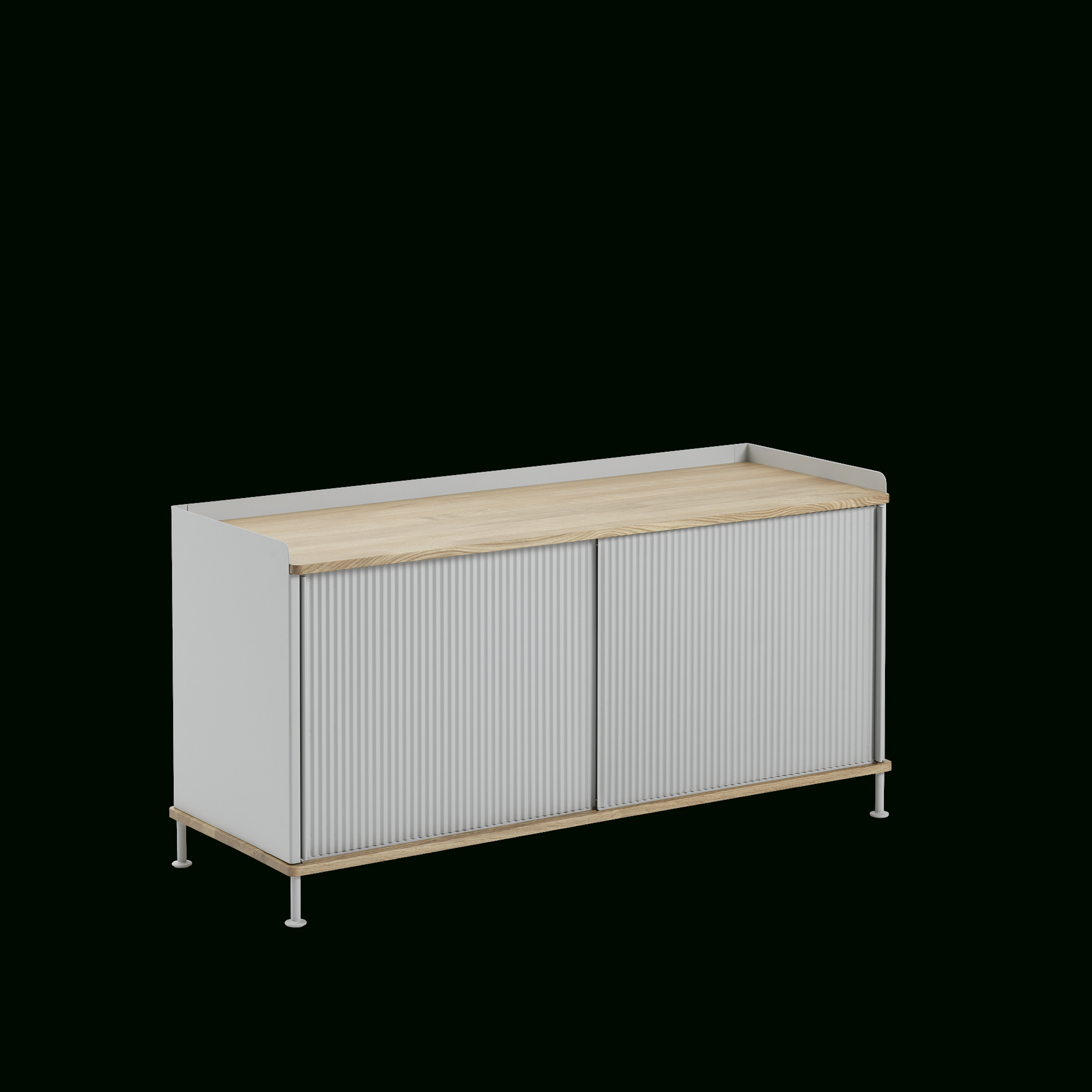 Enfold Sideboard | Scandinavian Storage Design with Metal Refinement 4 Door Sideboards (Image 13 of 30)