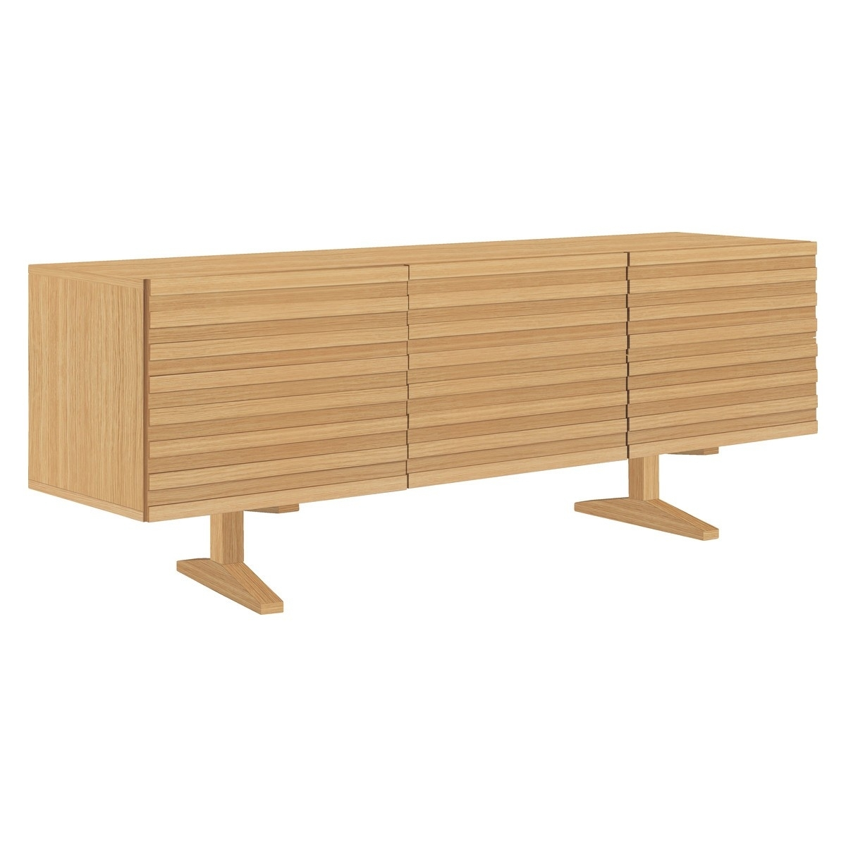Enzo Oak Sideboard With 2 Doors And 2 Drawers | Buy Now At Habitat Uk with 2-Door Mirror Front Sideboards (Image 11 of 30)