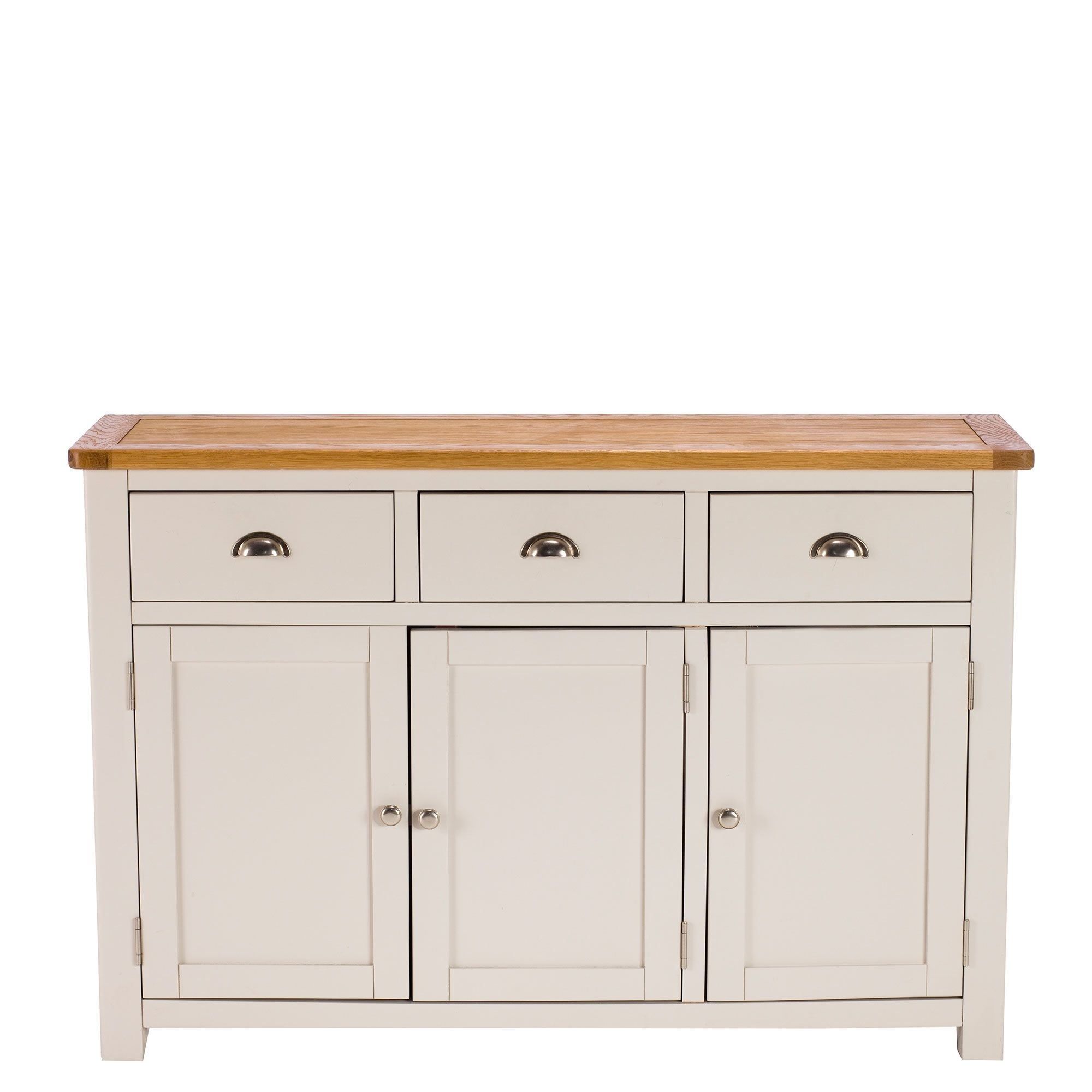 Eskdale 3 Door 3 Drawer Sideboard, Linen Available Online At Barker with Antique White Distressed 3-Drawer/2-Door Sideboards (Image 10 of 30)