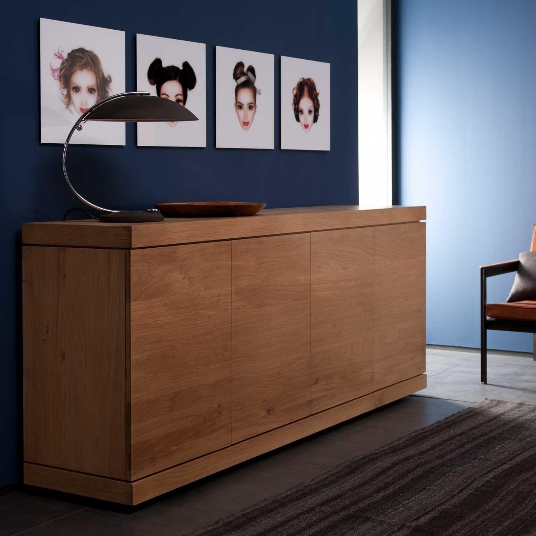 Ethnicraft Burger Oak Sideboard 150Cm – 3 Doors | Solid Wood Furniture Throughout Walnut Finish 4 Door Sideboards (Gallery 29 of 30)