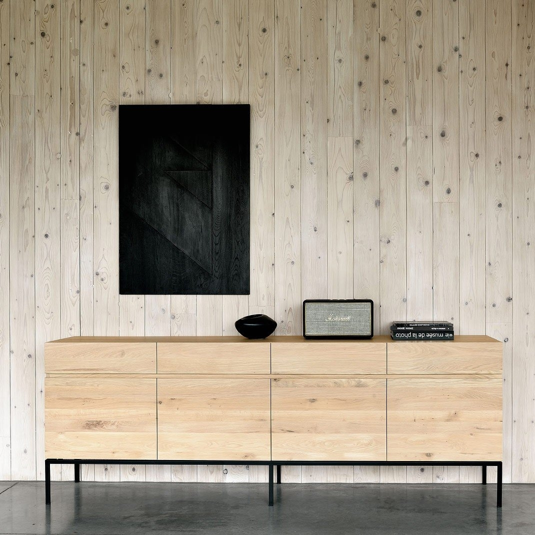 Ethnicraft Ligna Oak Sideboards | Solid Wood Furniture In 4 Door Wood Squares Sideboards (Photo 22 of 30)