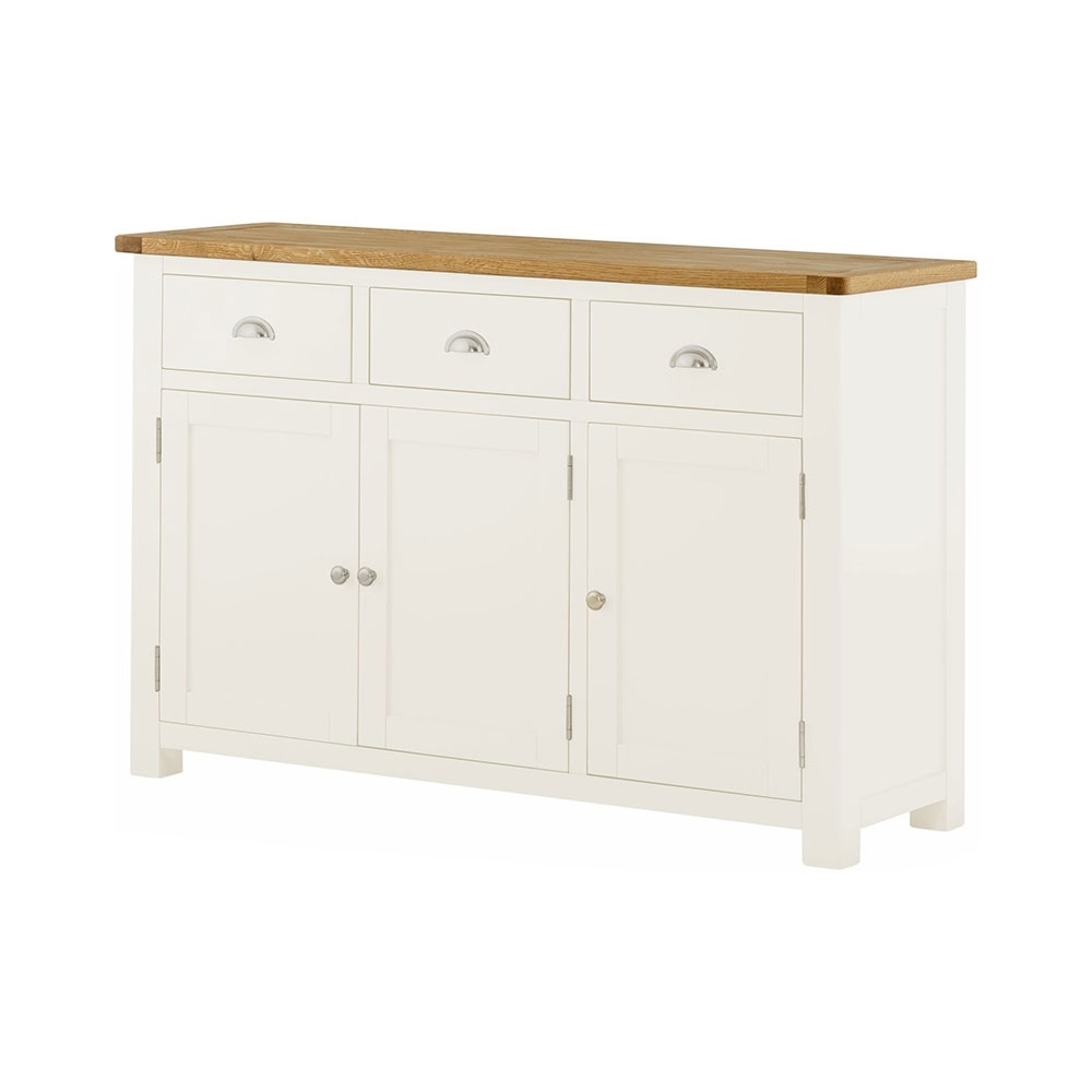 Eton Solid Oak Small Dresser for Charcoal Finish 4-Door Jumbo Sideboards (Image 7 of 30)