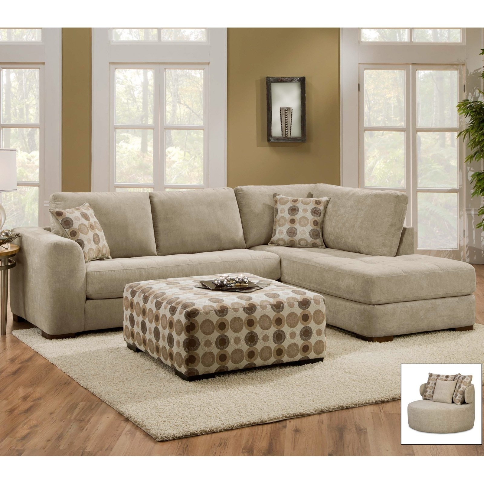 Evan Piecetional Wraf Chaise Living Spaces Unbelievable Sofa pertaining to Evan 2 Piece Sectionals With Raf Chaise (Image 19 of 30)