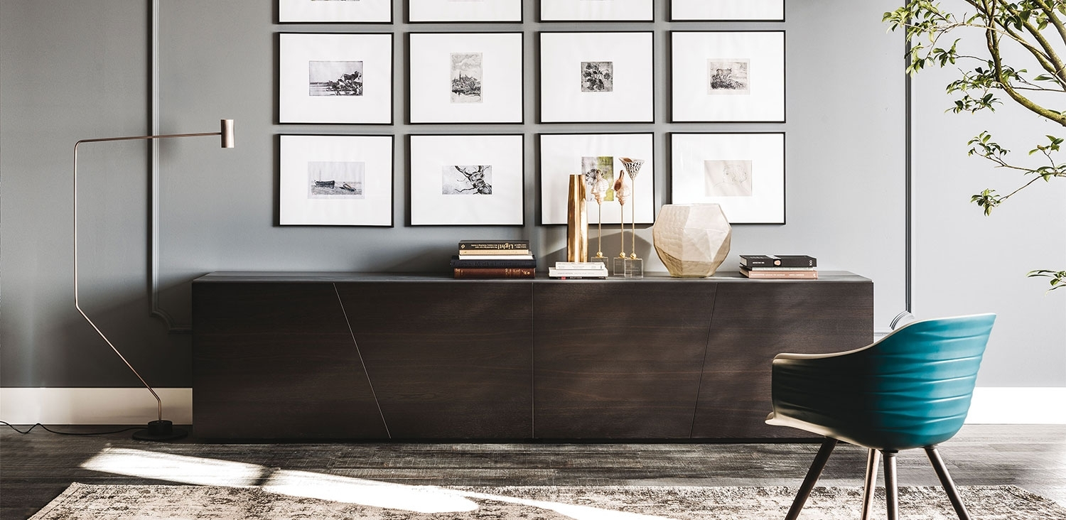 Explorer | Sideboards | Cattelan Italia With Burnt Oak Wood Sideboards (Photo 8 of 30)