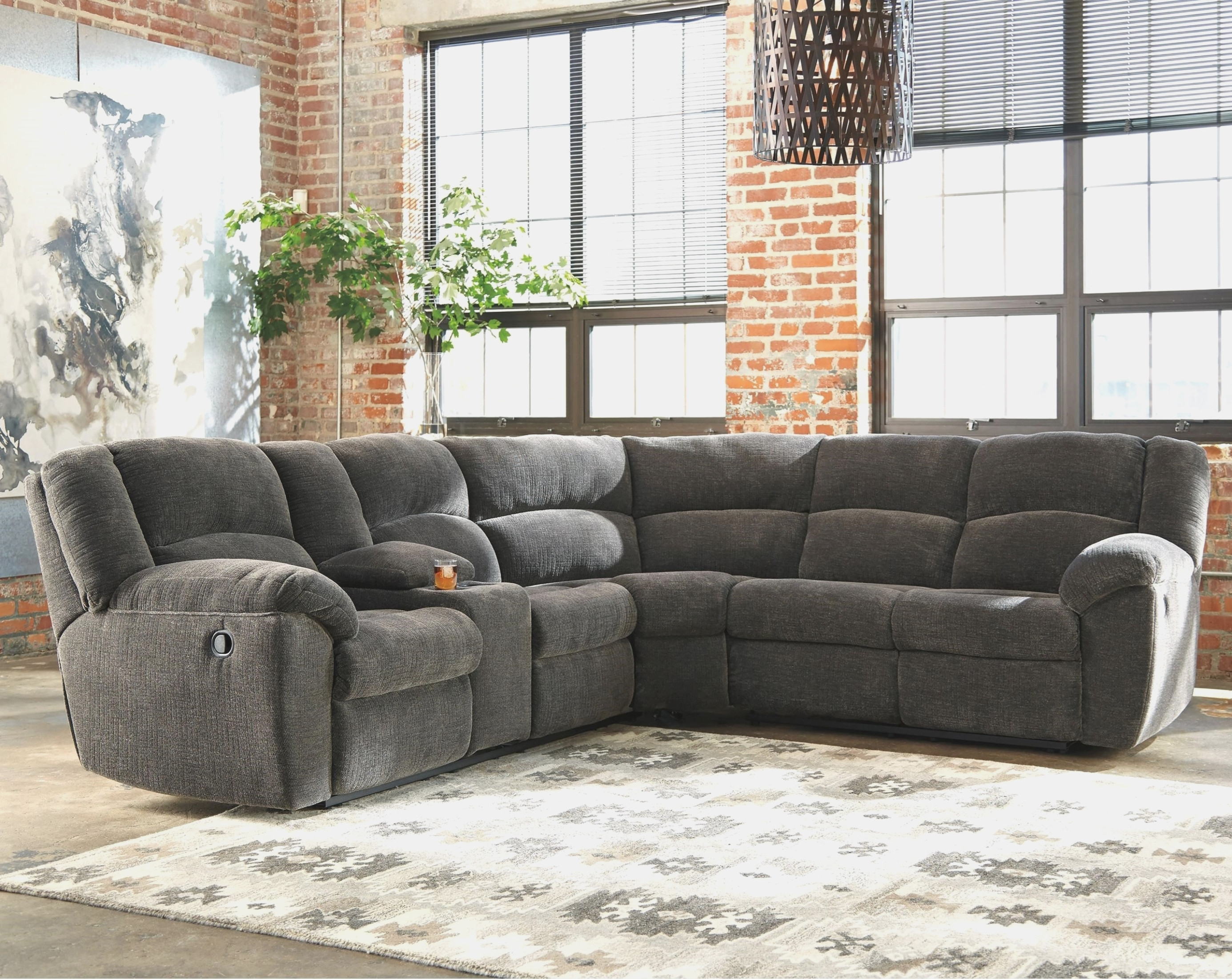 Fabric Sectional Sofa With Power Recliner | Baci Living Room with Declan 3 Piece Power Reclining Sectionals With Left Facing Console Loveseat (Image 13 of 30)