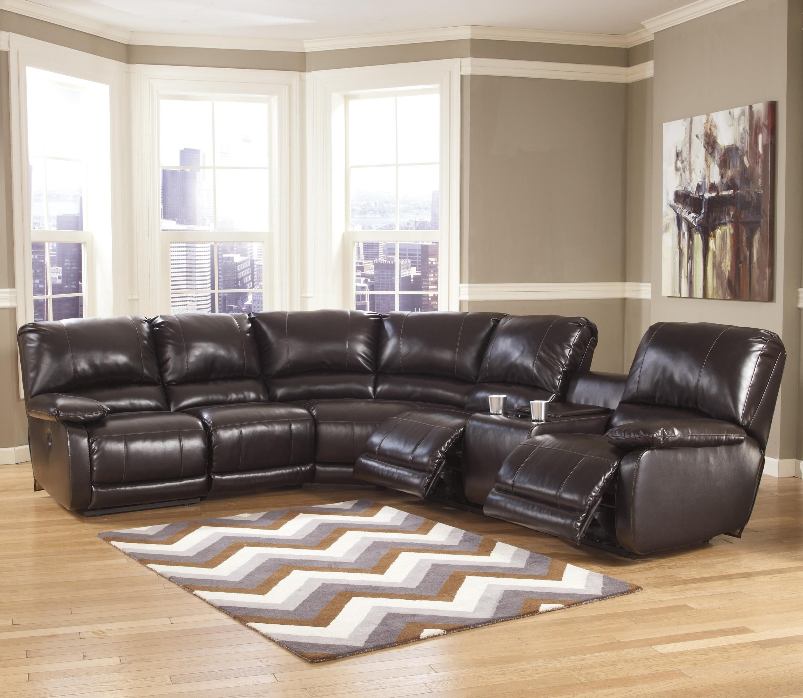 Fabulous 25 Power Reclining Sectional Sofa Favorite intended for Calder Grey 6 Piece Manual Reclining Sectionals (Image 7 of 30)