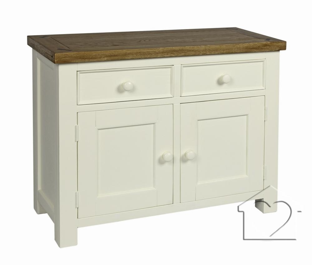 Farmhouse Cream 2 Drawer 2 Door Sideboard - £259.00 - A Fantastic intended for 2-Drawer Sideboards (Image 14 of 30)