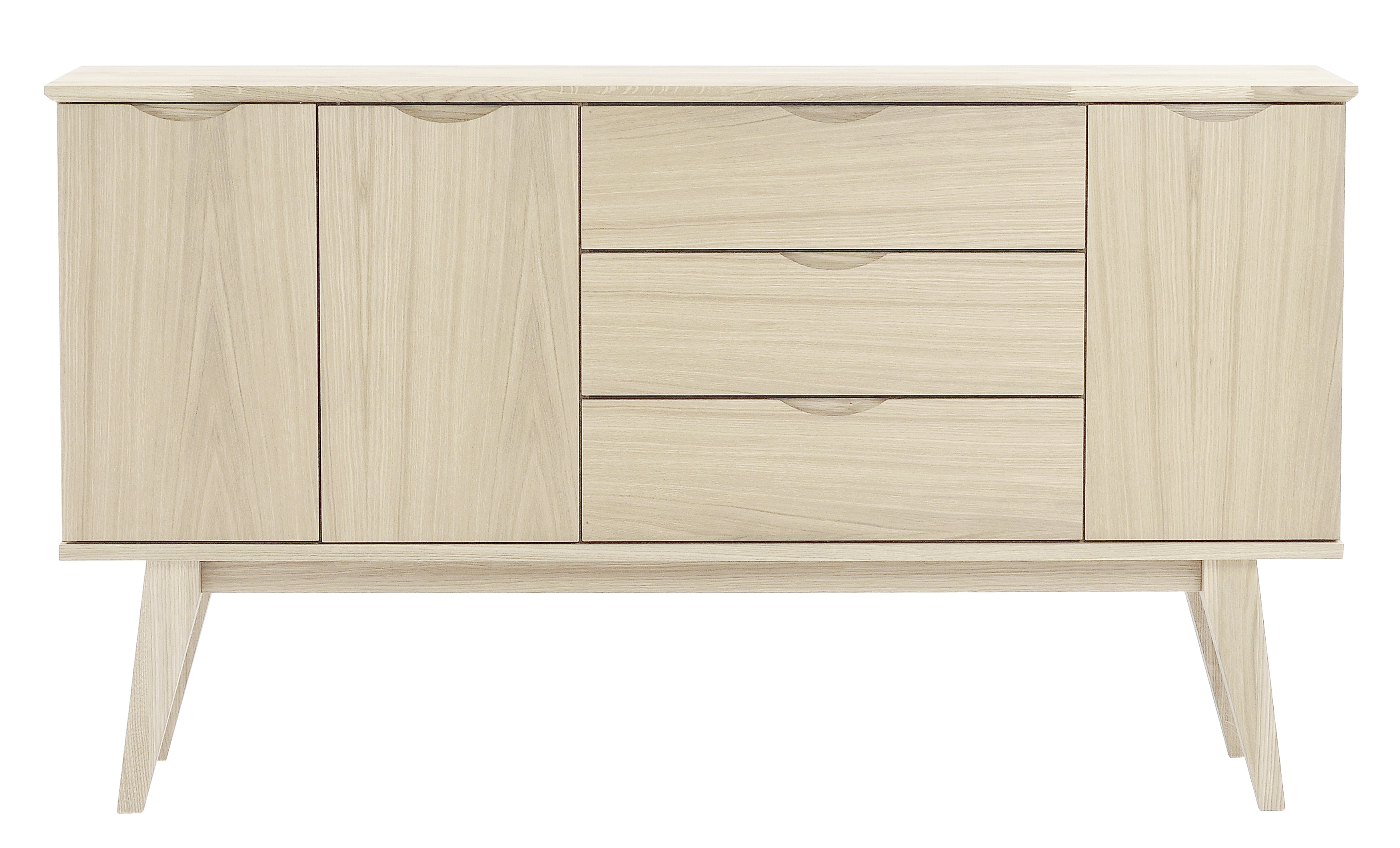 Filippa Sideboard - Whitewash - 113786 | Furniture From Rowico for 4-Door 3-Drawer White Wash Sideboards (Image 8 of 30)