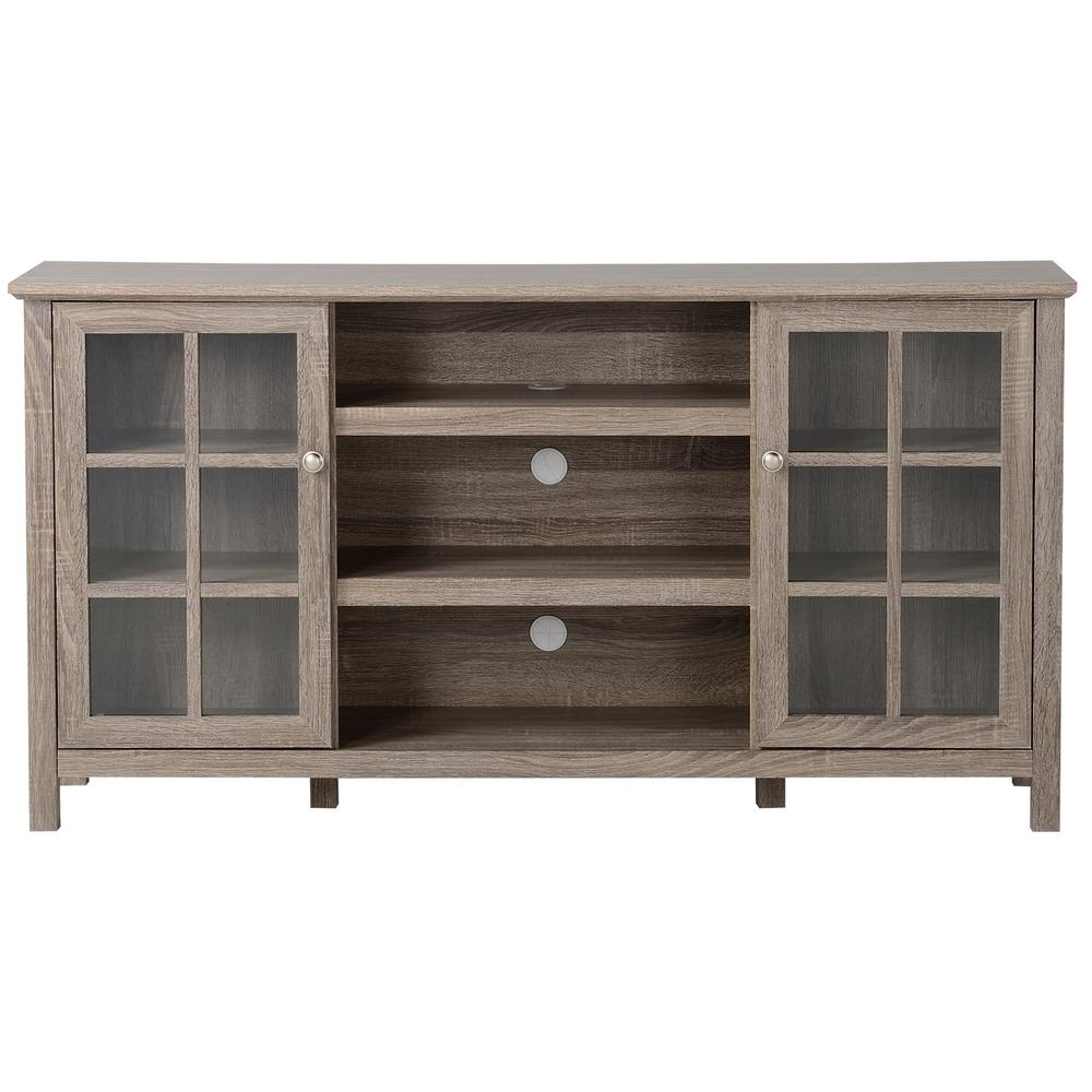Flamelux Provence Reclaimed Wood Entertainment Center-Zprovence pertaining to Reclaimed Pine & Iron 72 Inch Sideboards (Image 11 of 30)