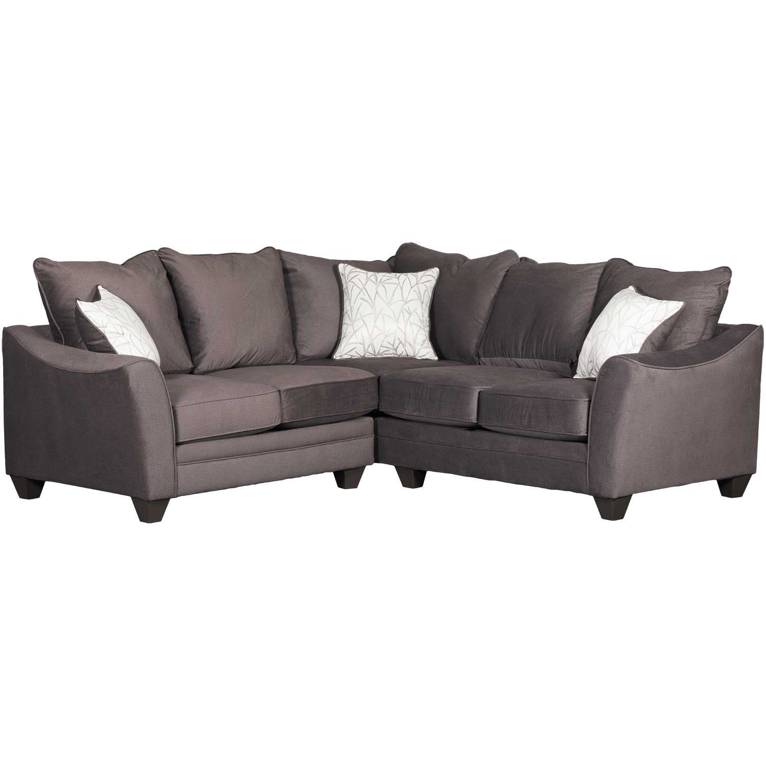 Flannel Seal 2 Piece Sectional With Raf Sofa | 3810/3816 | American regarding Cosmos Grey 2 Piece Sectionals With Raf Chaise (Image 10 of 30)