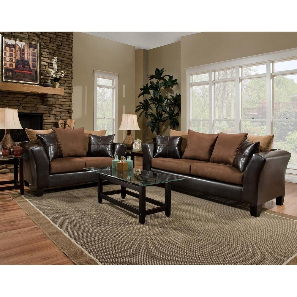 Flash Furniture Riverstone 2-Piece Sierra Chocolate Microfiber intended for Sierra Foam Ii 3 Piece Sectionals (Image 17 of 30)