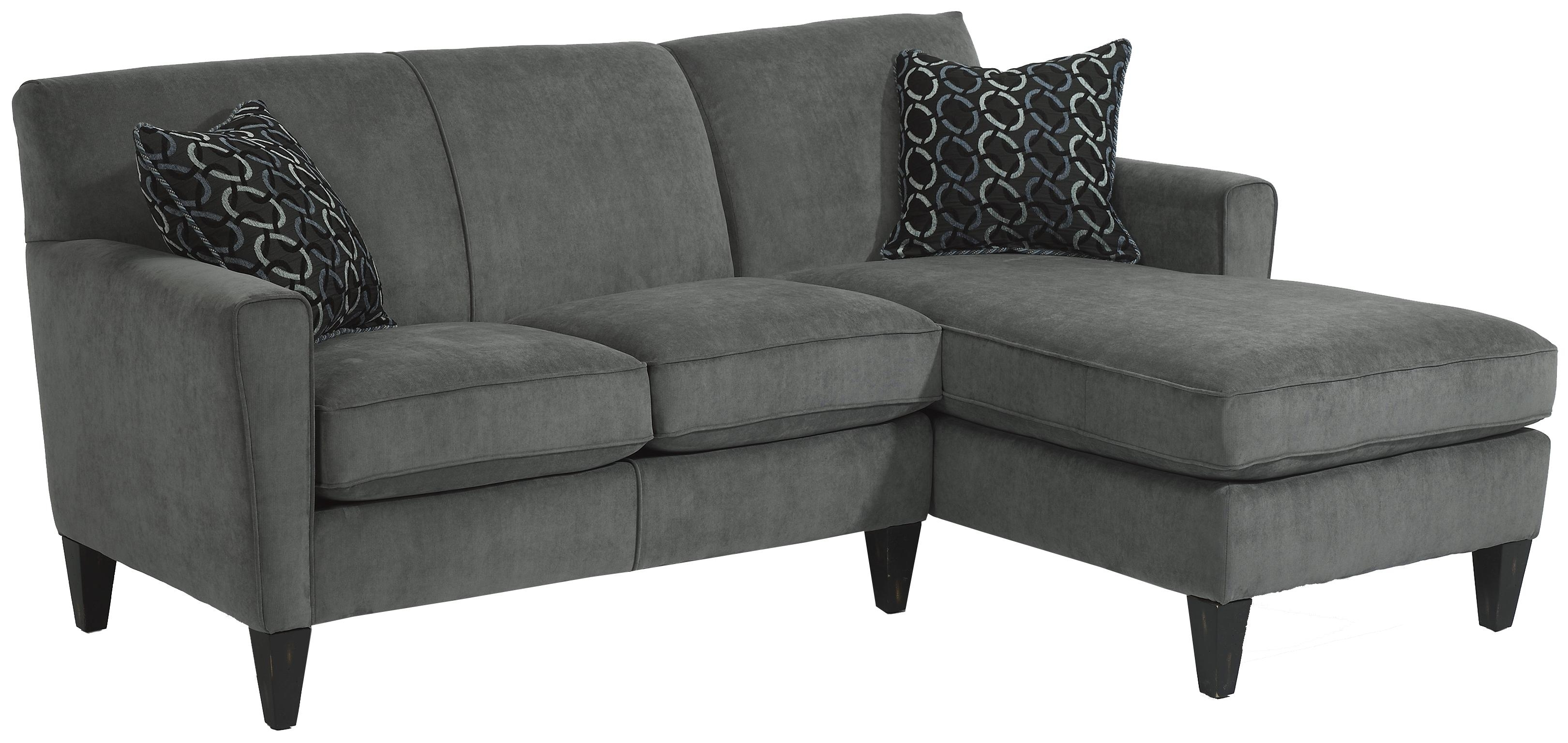 Flexsteel Digby Contemporary Sectional Sofa With Raf Chaise - Ahfa in Norfolk Chocolate 3 Piece Sectionals With Raf Chaise (Image 12 of 30)