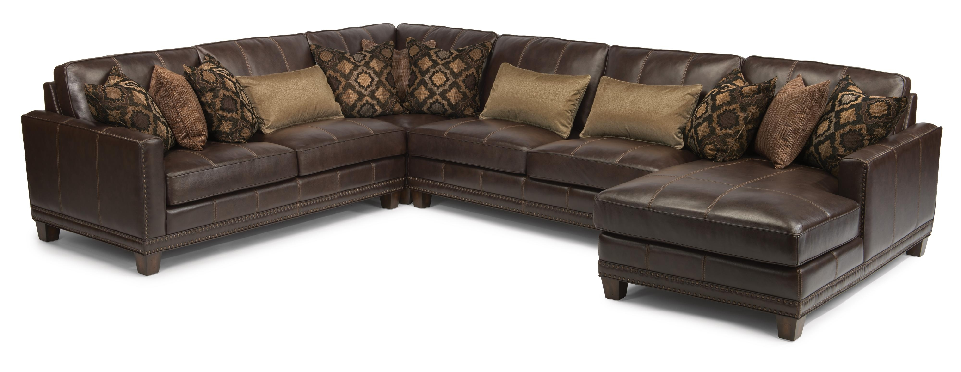 Flexsteel Latitudes - Port Royal Transitional Four Piece Sectional inside Gordon 3 Piece Sectionals With Raf Chaise (Image 10 of 30)