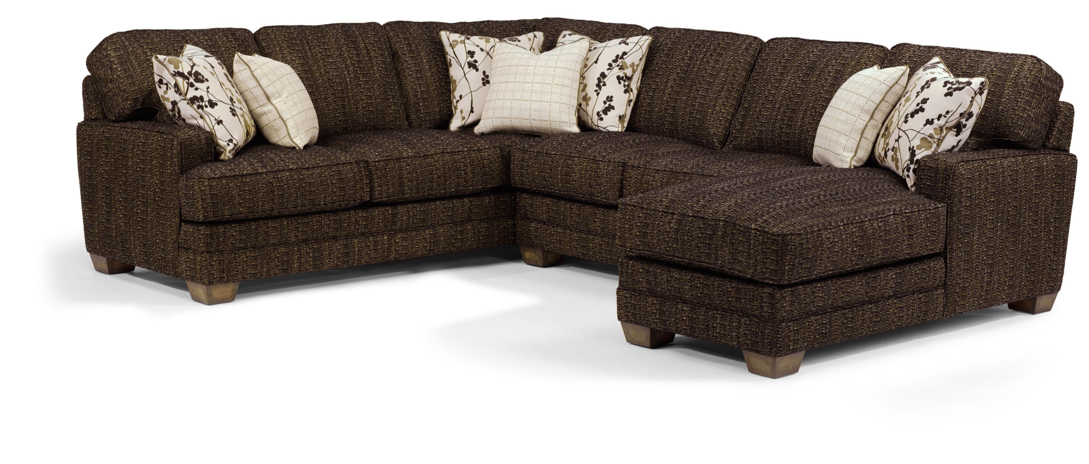 Flexsteel That's My Style <B>Customizable</b> 3 Piece Sectional Sofa within Delano 2 Piece Sectionals With Raf Oversized Chaise (Image 21 of 30)