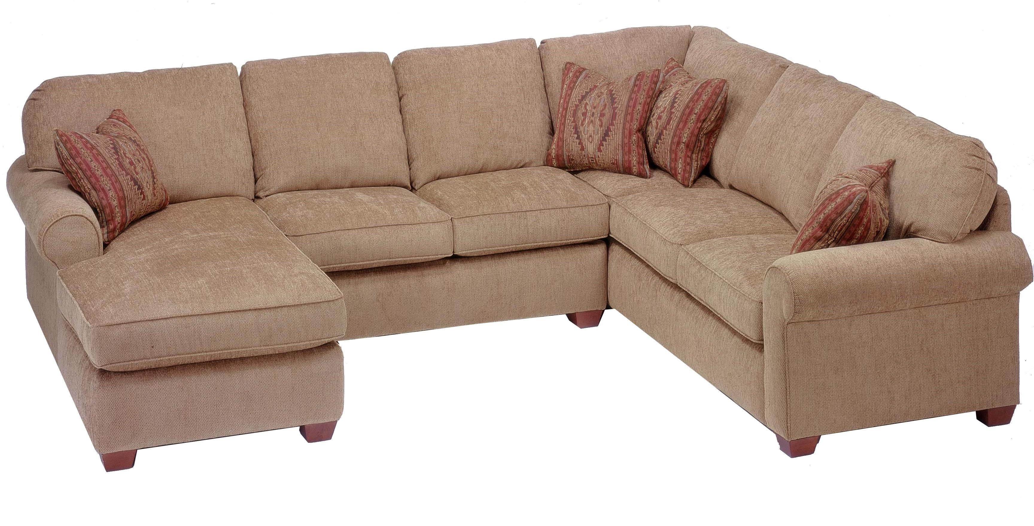 Flexsteel Thornton 3 Piece Sectional With Chaise - Ahfa - Sofa in Haven Blue Steel 3 Piece Sectionals (Image 12 of 30)