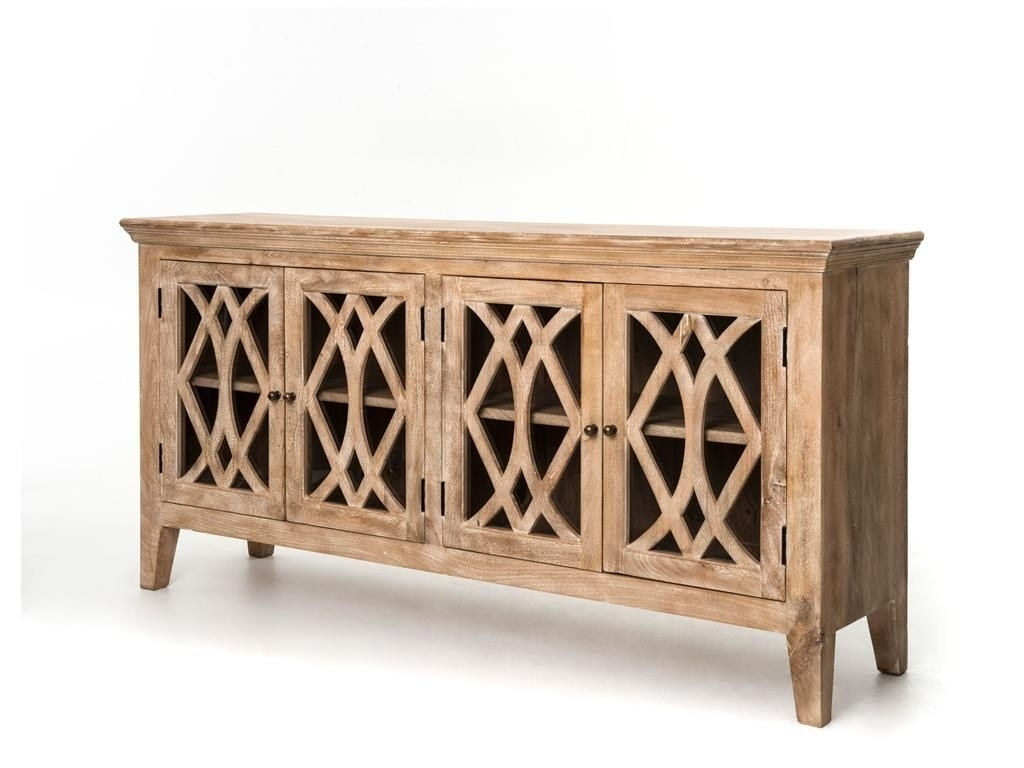 Four Hands Saviano 80 X 20 Rectangular Dogwood Azalea Sideboard With pertaining to Square Brass 4 Door Sideboards (Image 13 of 30)