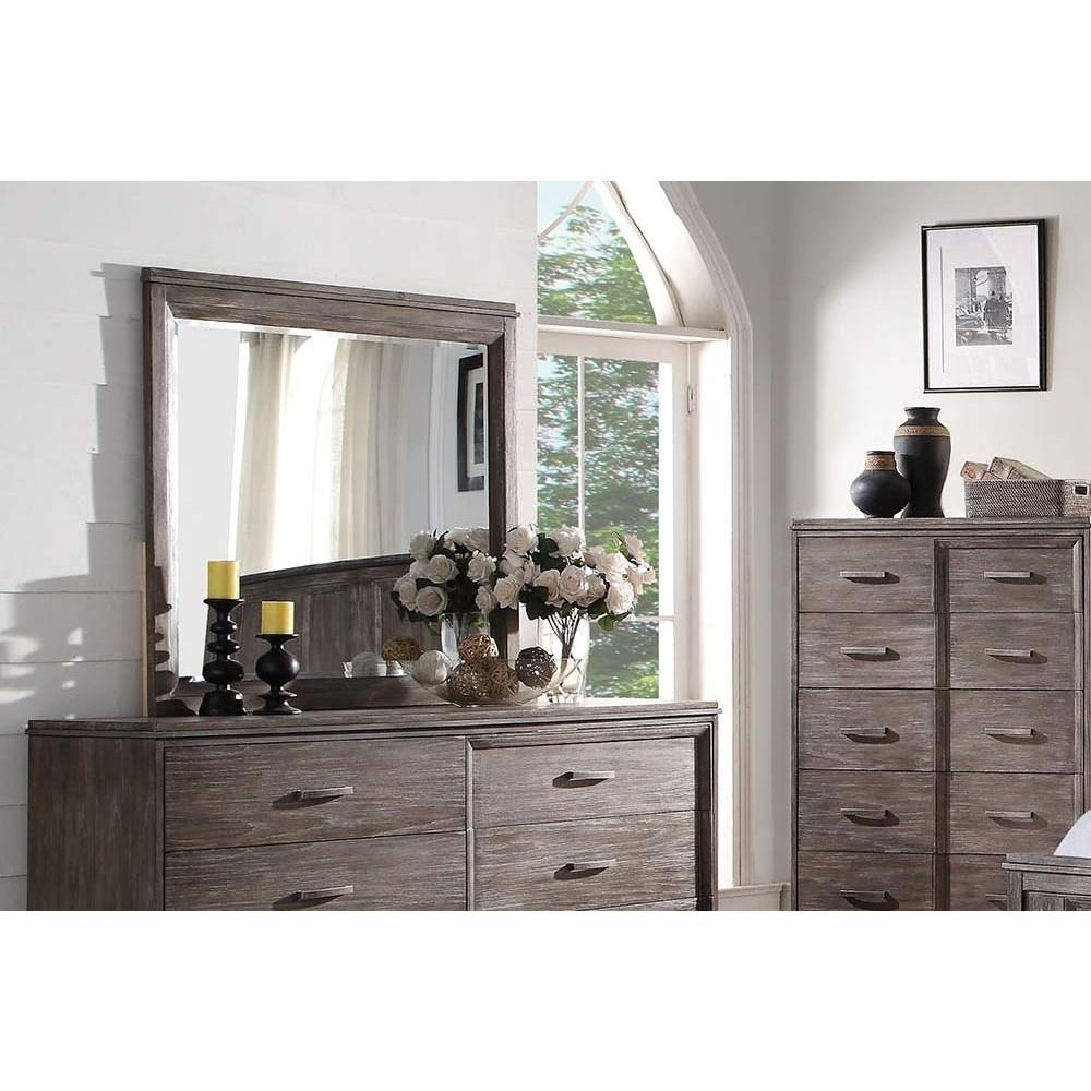 Frazute Mirror Burnt Oak Finish intended for Burnt Oak Wood Sideboards (Image 15 of 30)