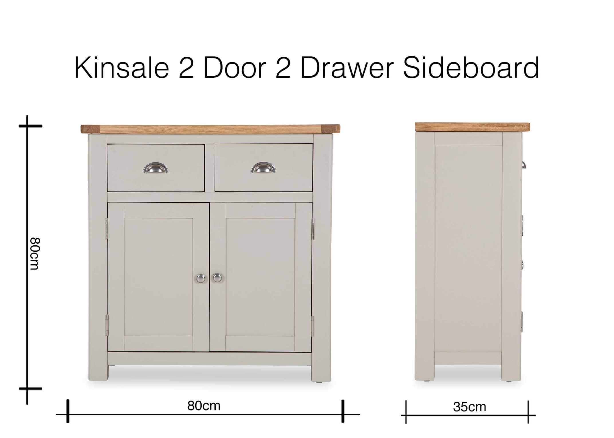 French Country Two-Tone Two Door Two Drawer Sideboard - Kinsale - Ez throughout 2-Drawer Sideboards (Image 15 of 30)