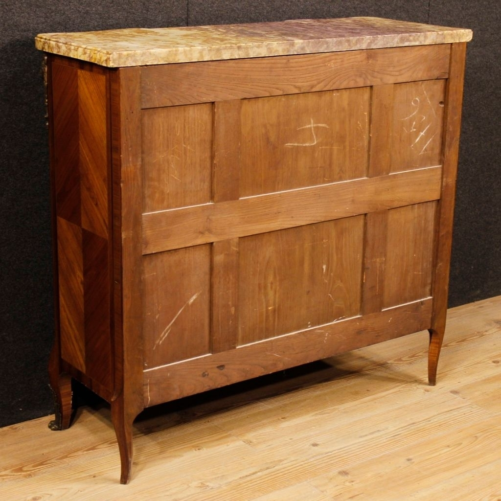 French Sideboard In Wood With Gilded Bronze Details And Marble Top regarding Rossi Large Sideboards (Image 10 of 30)