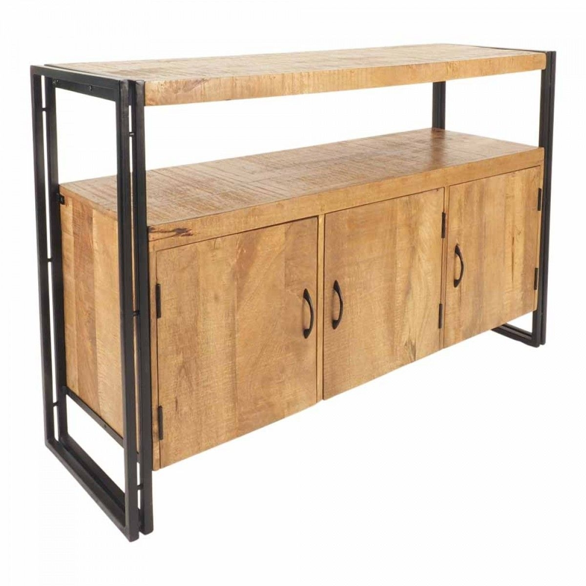 Fulham 3 Door Sideboard – Buffets & Sideboards – Dining | Must Have With Iron Sideboards (View 13 of 30)