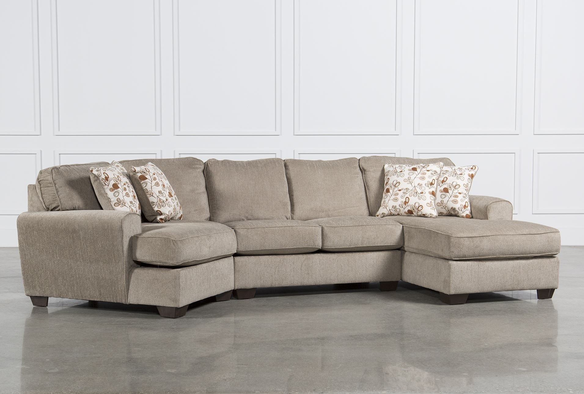 Furniture: Couches With Chaise Chaise Sectional intended for Evan 2 Piece Sectionals With Raf Chaise (Image 19 of 30)