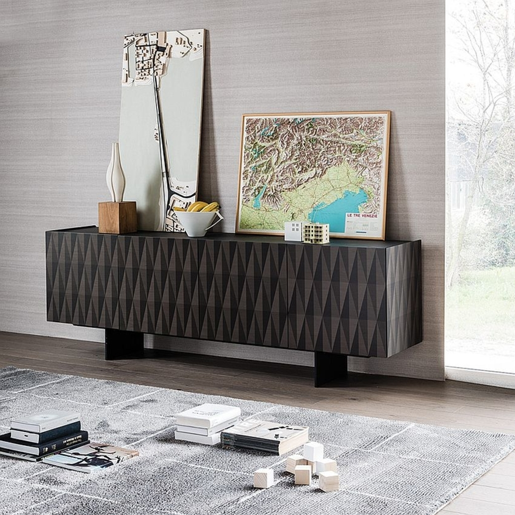 Furniture: Exquisite Explorer Sidetable In Burnt Oak And Canaletto with Walnut Finish Contempo Sideboards (Image 18 of 30)