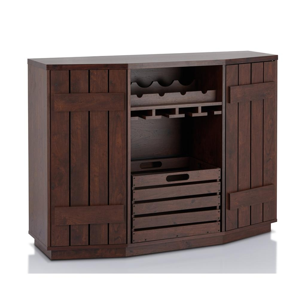 Furniture Of America Neomir Vintage Walnut Buffet With Removable pertaining to Antique Walnut Finish 2-Door/4-Drawer Sideboards (Image 10 of 30)