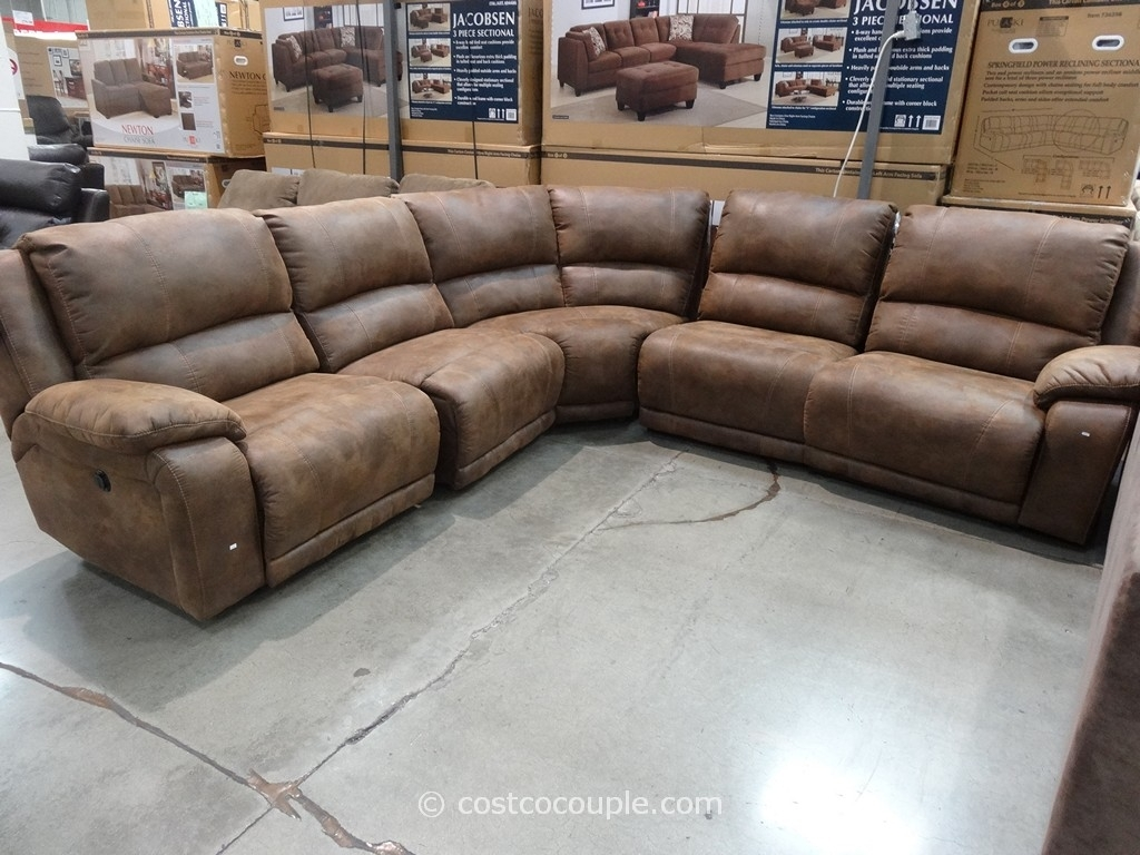 Furniture: Sectional Couch Costco | Costco Sofa | Twin Sofa Sleeper regarding Burton Leather 3 Piece Sectionals (Image 8 of 30)