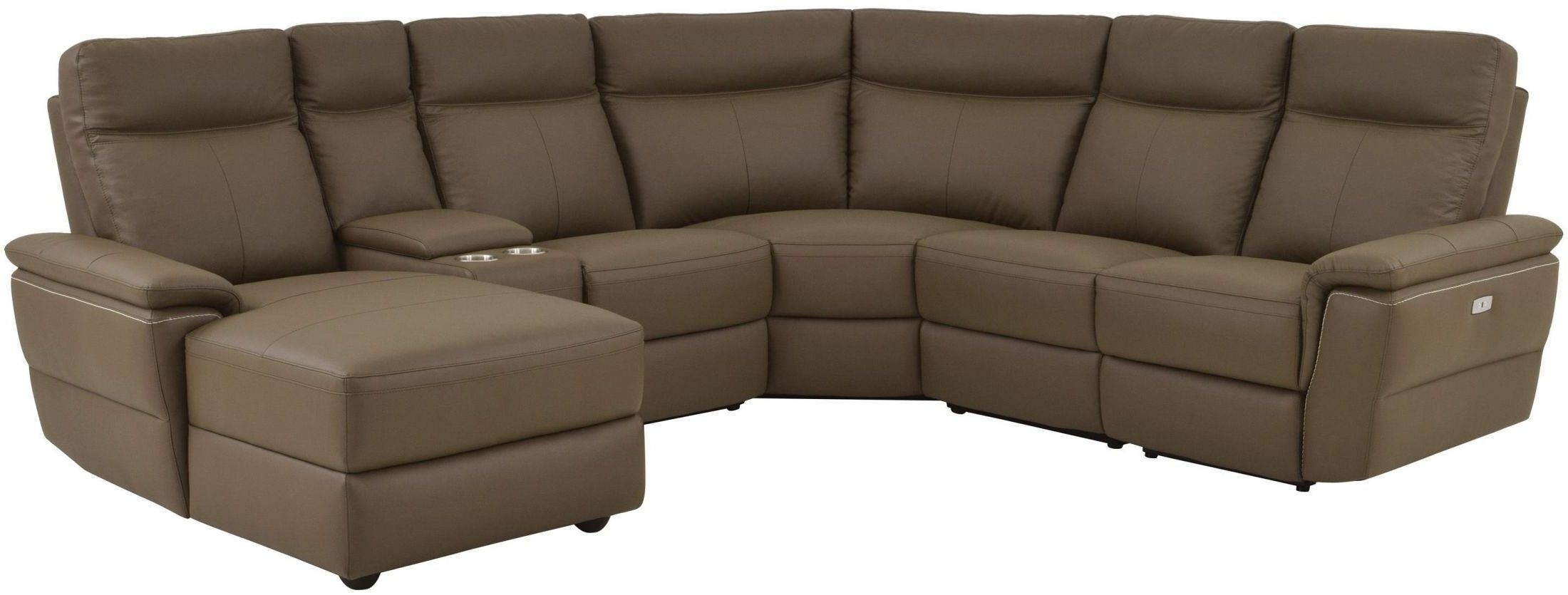 Furnitureetc | Furniture & More Olympia Brown Power Reclining intended for Avery 2 Piece Sectionals With Laf Armless Chaise (Image 11 of 30)