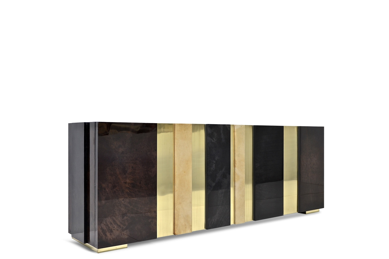 Gateau Sideboard - Goatskin / Brass | Scala Luxury throughout Aged Brass Sideboards (Image 10 of 30)