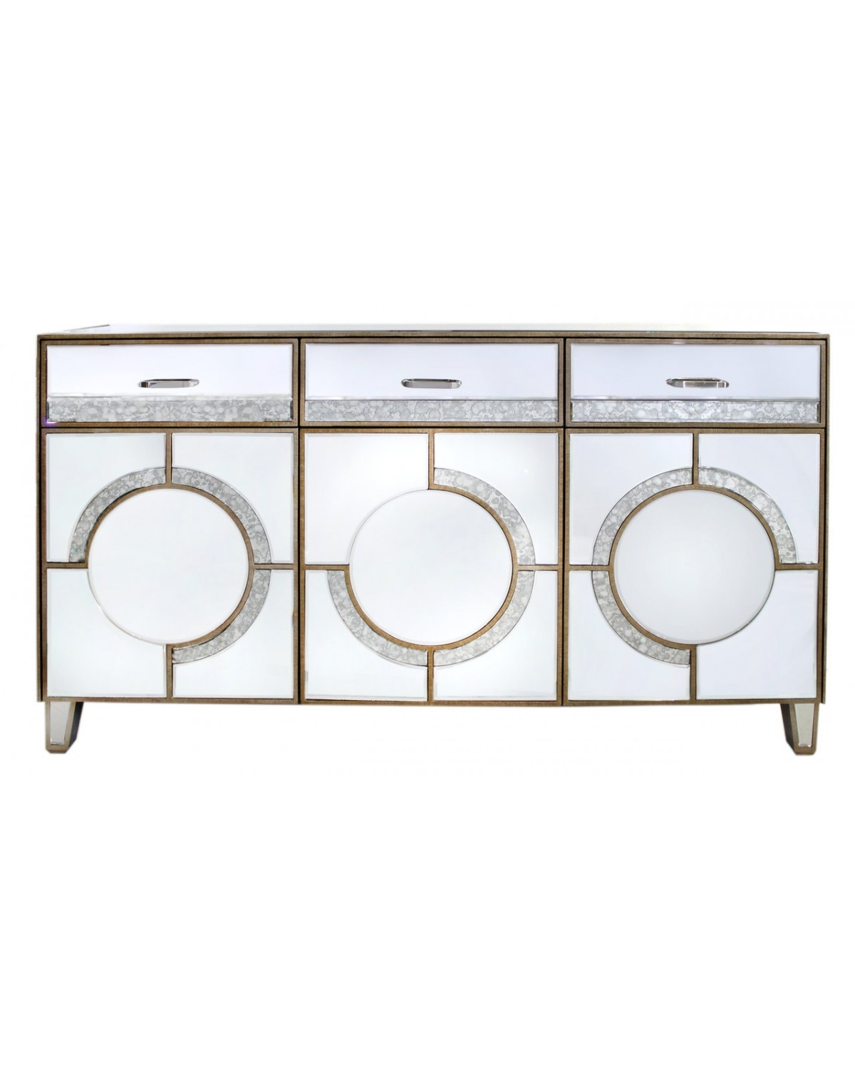Gatsby Antique Mirror Sideboard | Cimc Home for Diamond Circle Sideboards (Image 13 of 30)