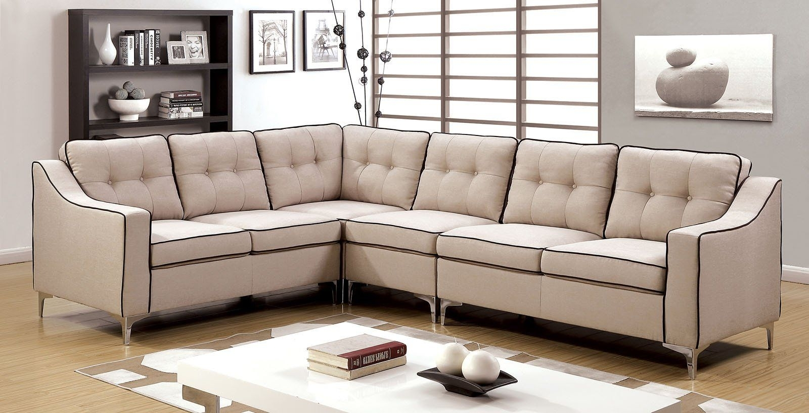 Glenda Ii Contemporary Sectional | Products with regard to Aidan 4 Piece Sectionals (Image 12 of 30)