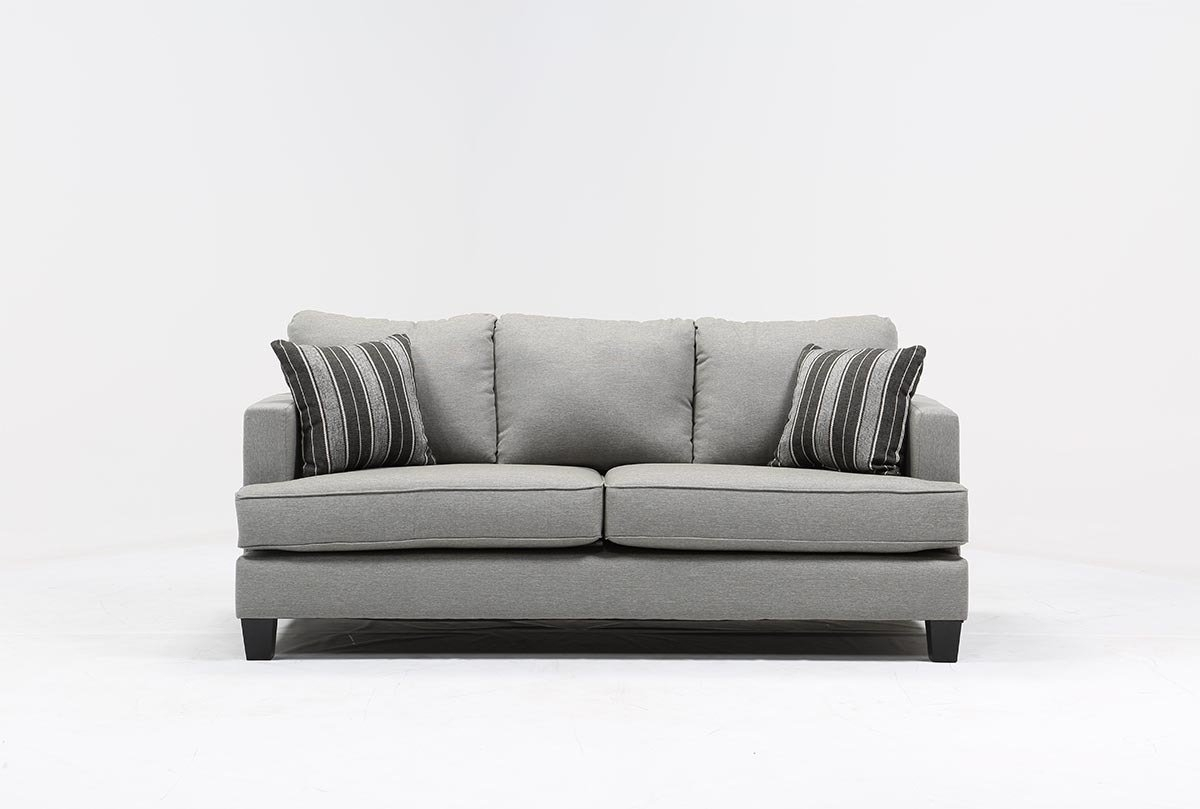 Grace Sofa | Living Spaces in Mcdade Graphite 2 Piece Sectionals With Raf Chaise (Image 6 of 30)