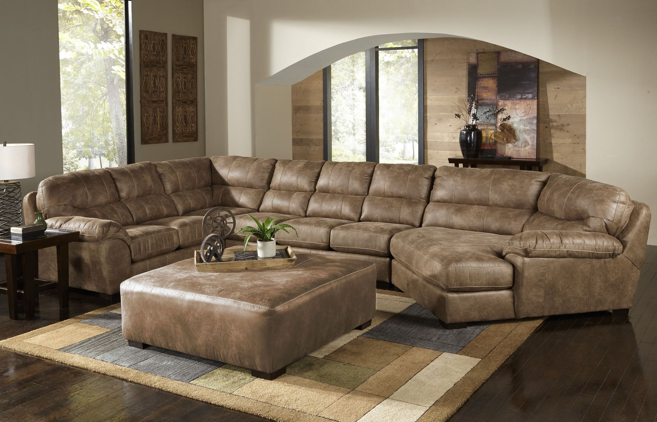 Grant Silt Laf Chaise Sectional, 4453-75-122749302749, Jackson for Avery 2 Piece Sectionals With Raf Armless Chaise (Image 15 of 30)