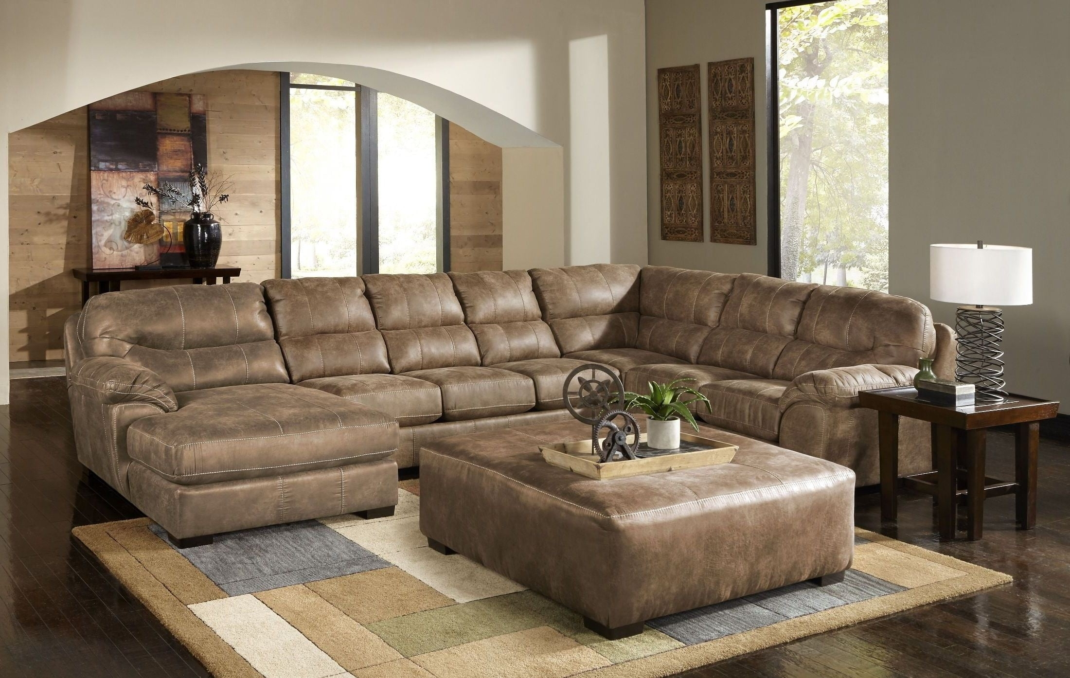 Grant Silt Laf Chaise Sectional, 4453-75-122749302749, Jackson throughout Avery 2 Piece Sectionals With Raf Armless Chaise (Image 16 of 30)